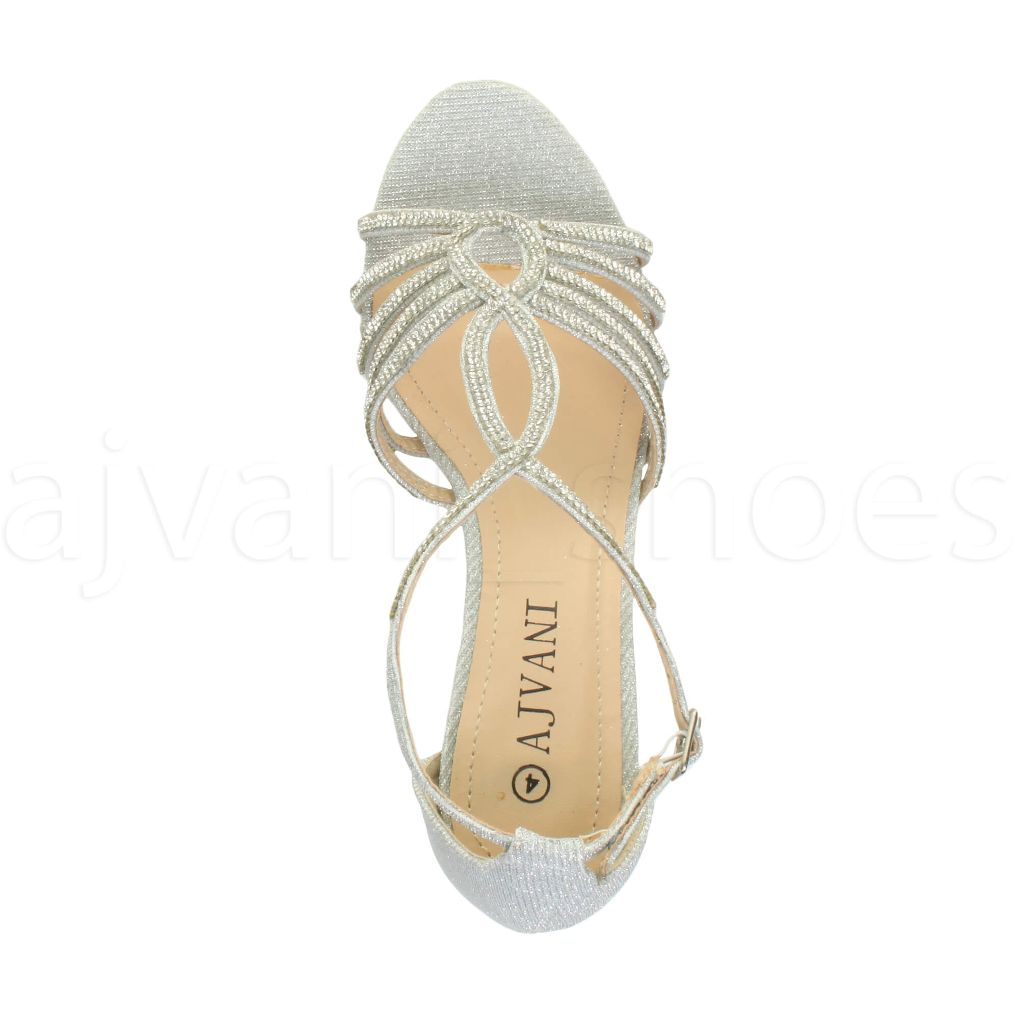 WOMENS-LADIES-MID-HEEL-STRAPPY-DIAMANTE-WEDDING-EVENING-T-BAR-SANDALS-SHOES-SIZE thumbnail 25