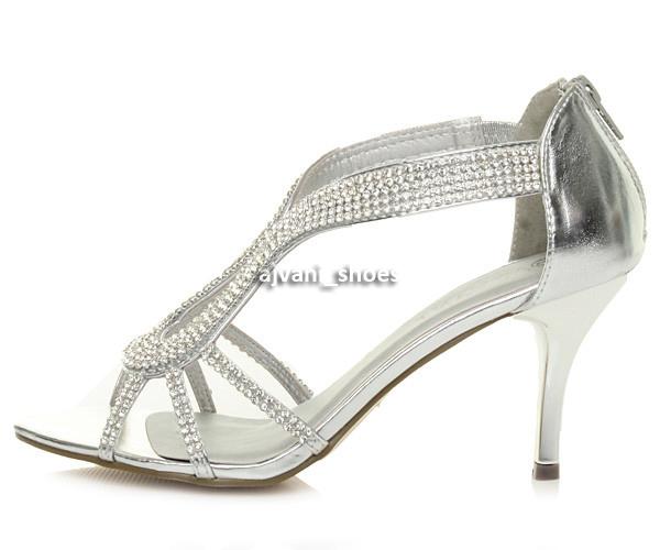 WOMENS-LADIES-HIGH-HEEL-DIAMANTE-WEDDING-EVENING-BRIDAL-PROM-SANDALS-SHOES-SIZE thumbnail 3