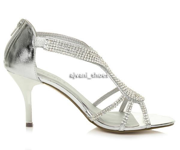 WOMENS-LADIES-HIGH-HEEL-DIAMANTE-WEDDING-EVENING-BRIDAL-PROM-SANDALS-SHOES-SIZE thumbnail 4