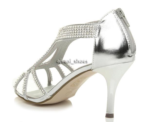 WOMENS-LADIES-HIGH-HEEL-DIAMANTE-WEDDING-EVENING-BRIDAL-PROM-SANDALS-SHOES-SIZE thumbnail 5