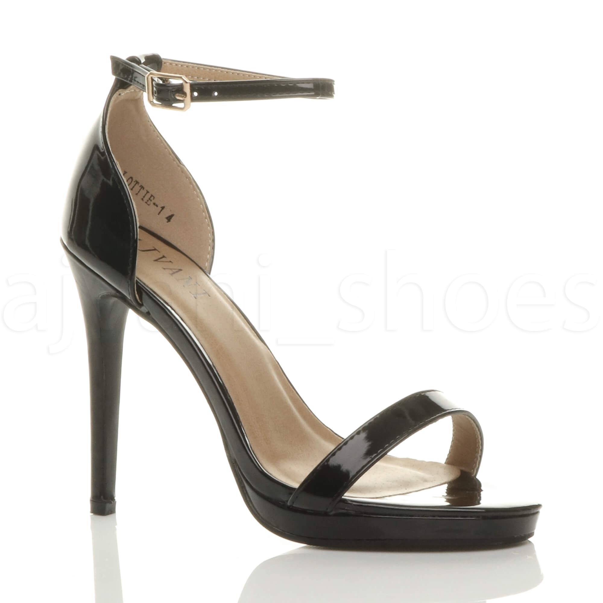WOMENS-LADIES-HIGH-HEEL-PEEP-TOE-BARELY-THERE-ANKLE-STRAP-BUCKLE-SANDALS-SIZE thumbnail 15