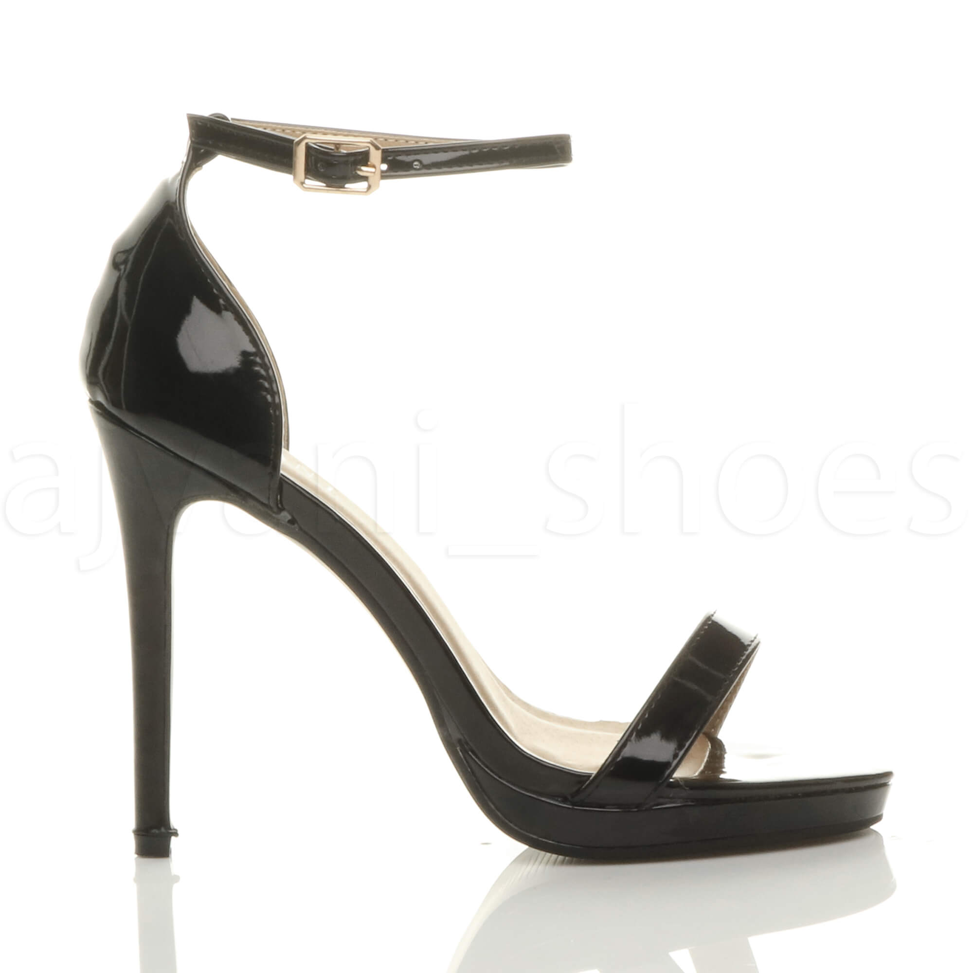 WOMENS-LADIES-HIGH-HEEL-PEEP-TOE-BARELY-THERE-ANKLE-STRAP-BUCKLE-SANDALS-SIZE thumbnail 16