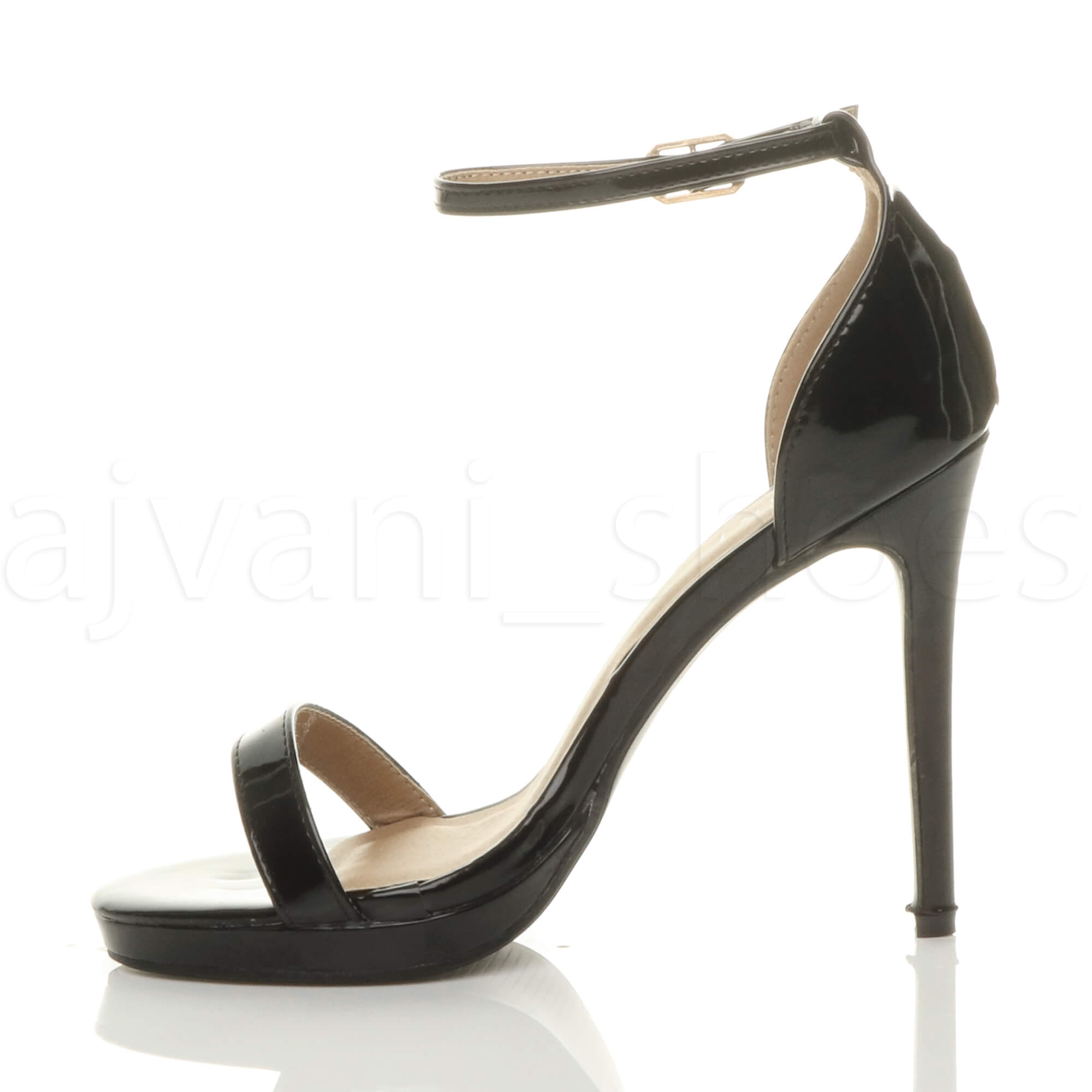 WOMENS-LADIES-HIGH-HEEL-PEEP-TOE-BARELY-THERE-ANKLE-STRAP-BUCKLE-SANDALS-SIZE thumbnail 17