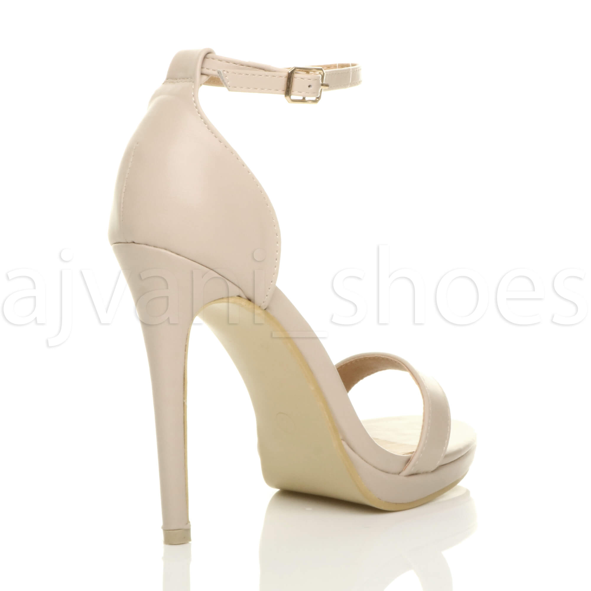 WOMENS-LADIES-HIGH-HEEL-PEEP-TOE-BARELY-THERE-ANKLE-STRAP-BUCKLE-SANDALS-SIZE