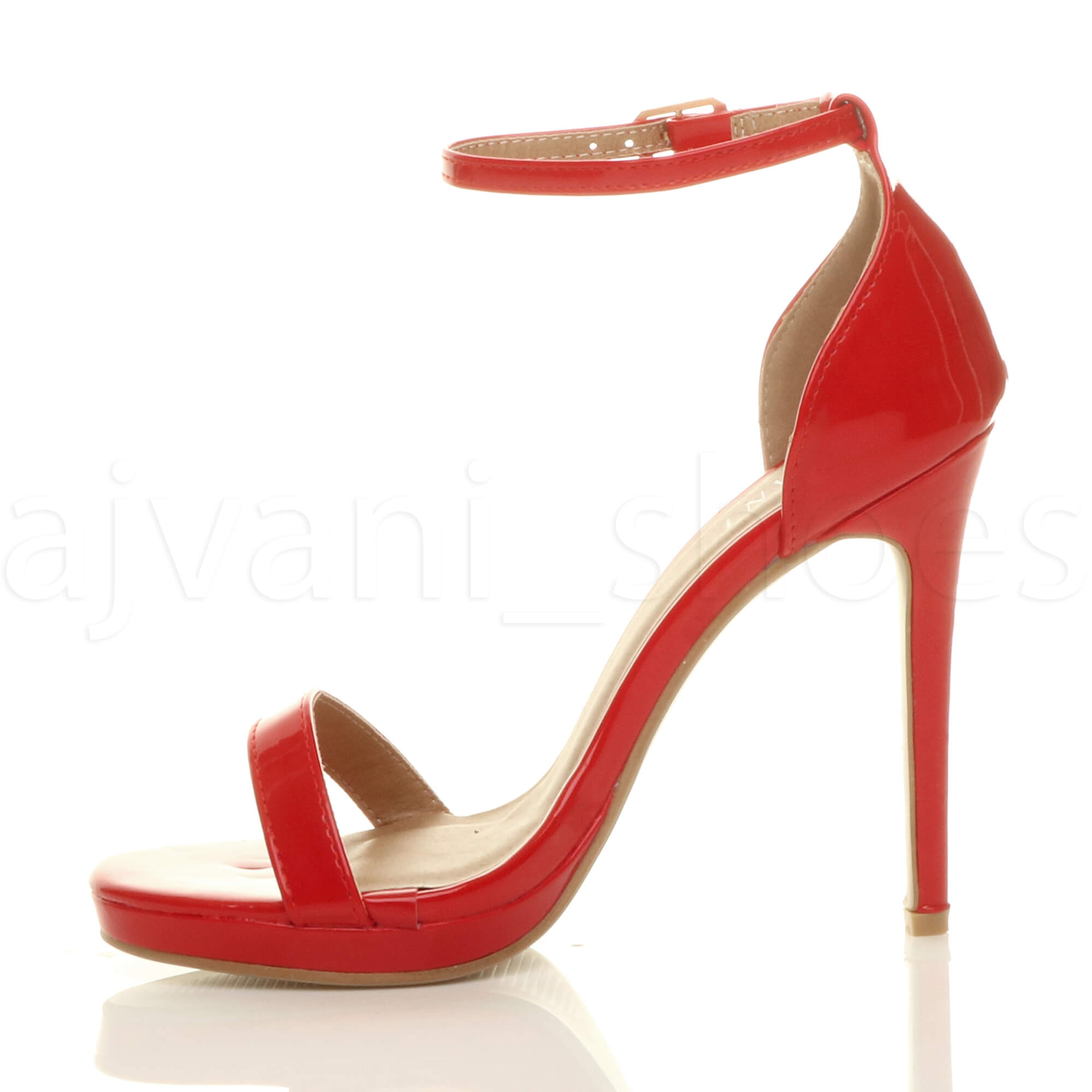WOMENS-LADIES-HIGH-HEEL-PEEP-TOE-BARELY-THERE-ANKLE-STRAP-BUCKLE-SANDALS-SIZE thumbnail 99