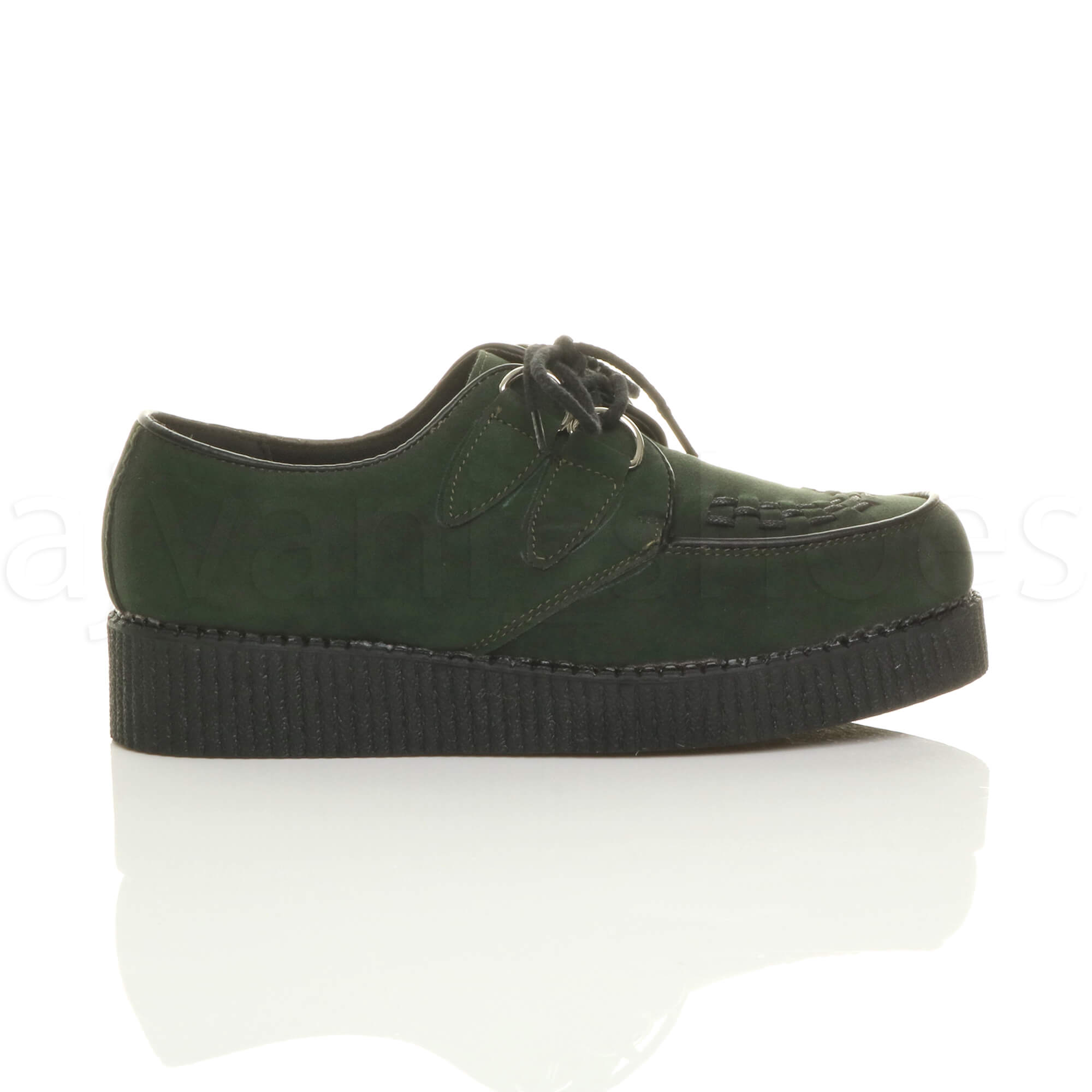 MENS-PLATFORM-WEDGE-LACE-UP-GOTH-PUNK-BROTHEL-CREEPERS-BEETLE-CRUSHERS-SHOES thumbnail 24