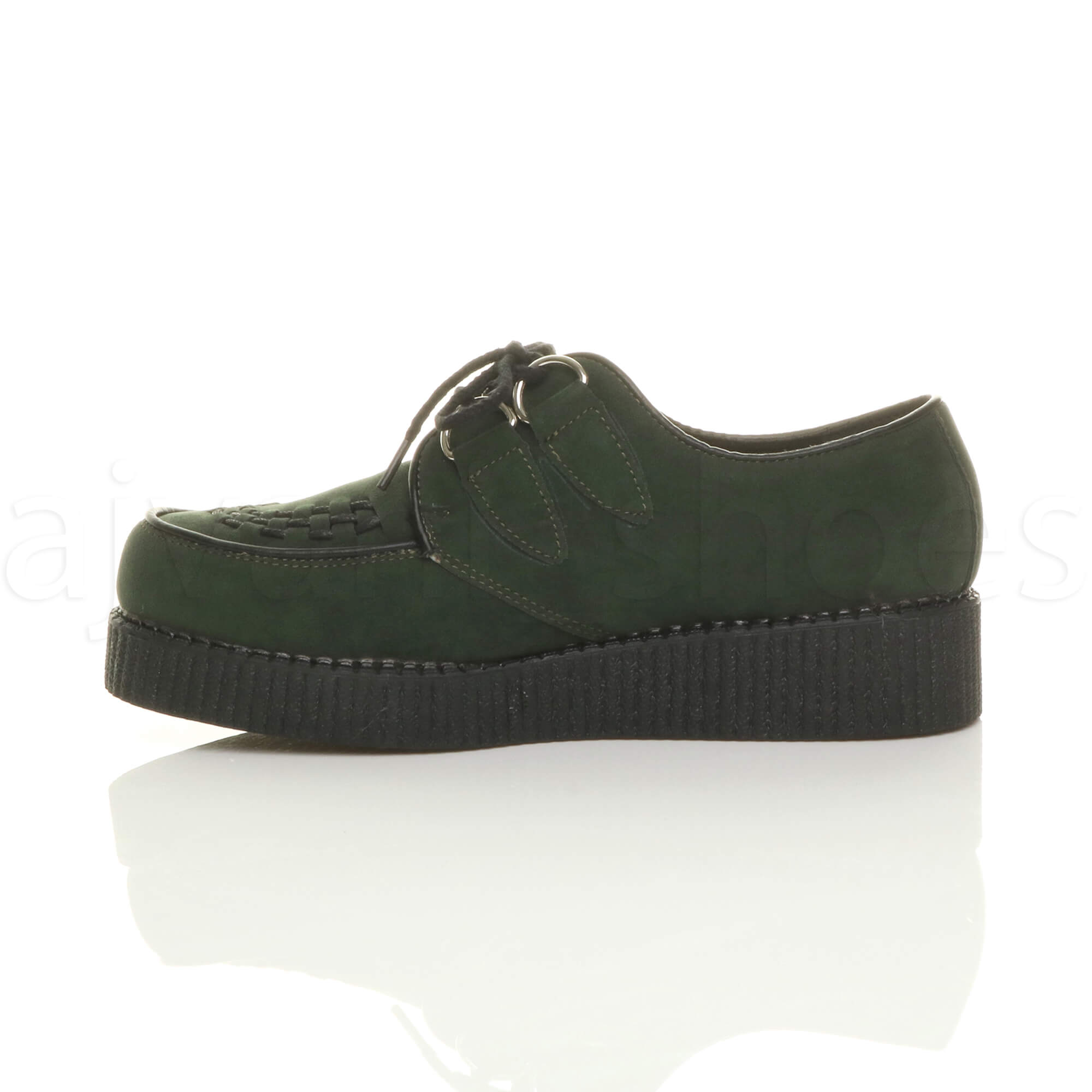 MENS-PLATFORM-WEDGE-LACE-UP-GOTH-PUNK-BROTHEL-CREEPERS-BEETLE-CRUSHERS-SHOES thumbnail 25