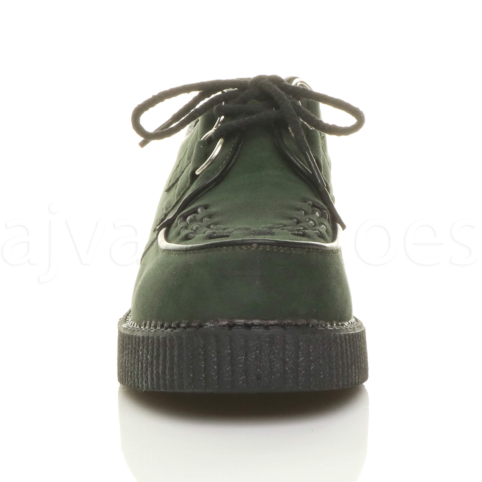 MENS-PLATFORM-WEDGE-LACE-UP-GOTH-PUNK-BROTHEL-CREEPERS-BEETLE-CRUSHERS-SHOES thumbnail 27