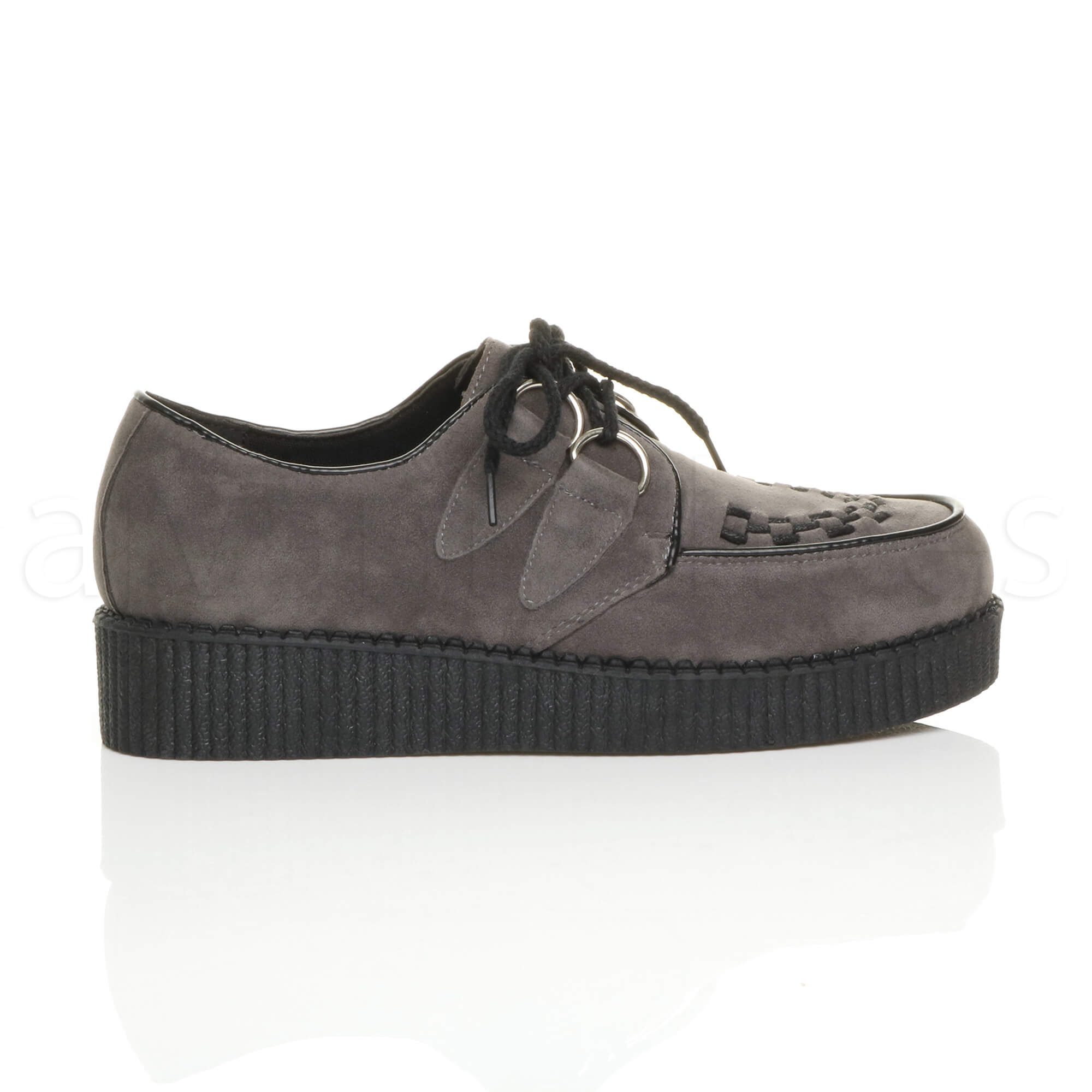 MENS-PLATFORM-WEDGE-LACE-UP-GOTH-PUNK-BROTHEL-CREEPERS-BEETLE-CRUSHERS-SHOES thumbnail 31