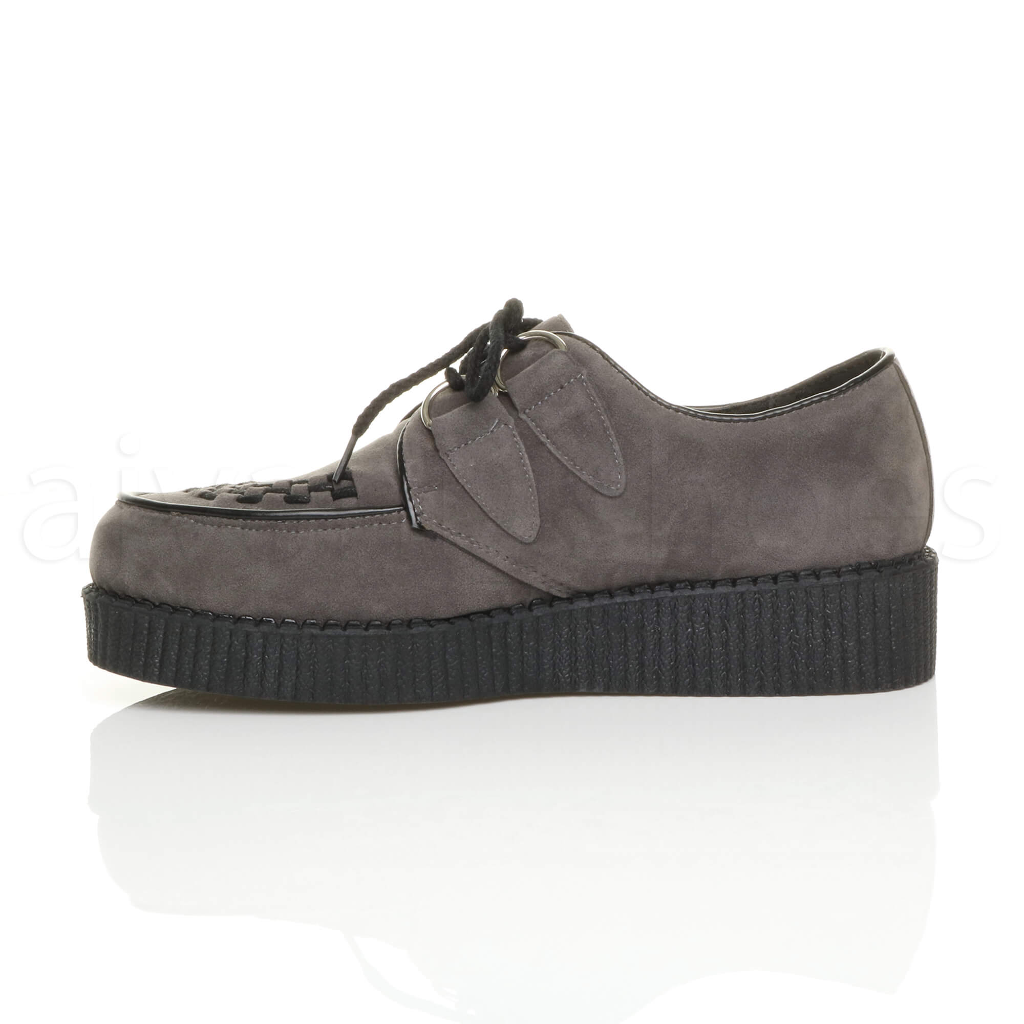 MENS-PLATFORM-WEDGE-LACE-UP-GOTH-PUNK-BROTHEL-CREEPERS-BEETLE-CRUSHERS-SHOES thumbnail 32