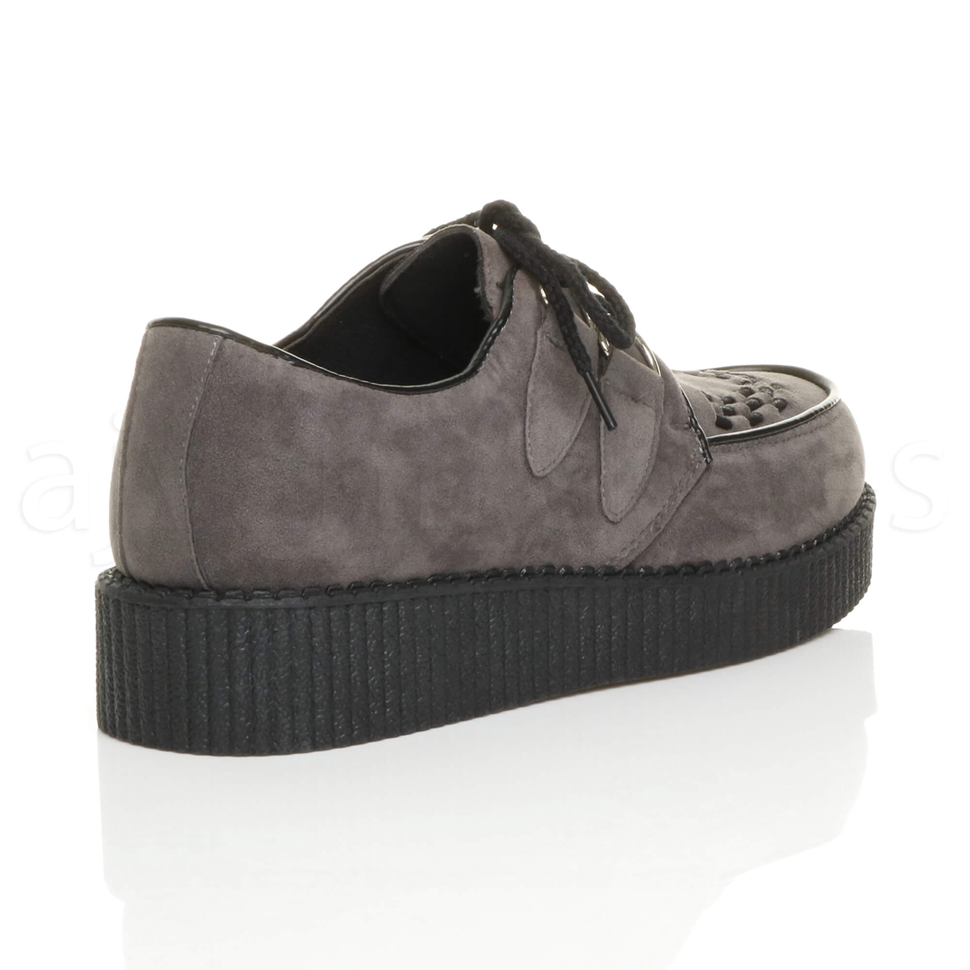 MENS-PLATFORM-WEDGE-LACE-UP-GOTH-PUNK-BROTHEL-CREEPERS-BEETLE-CRUSHERS-SHOES thumbnail 33
