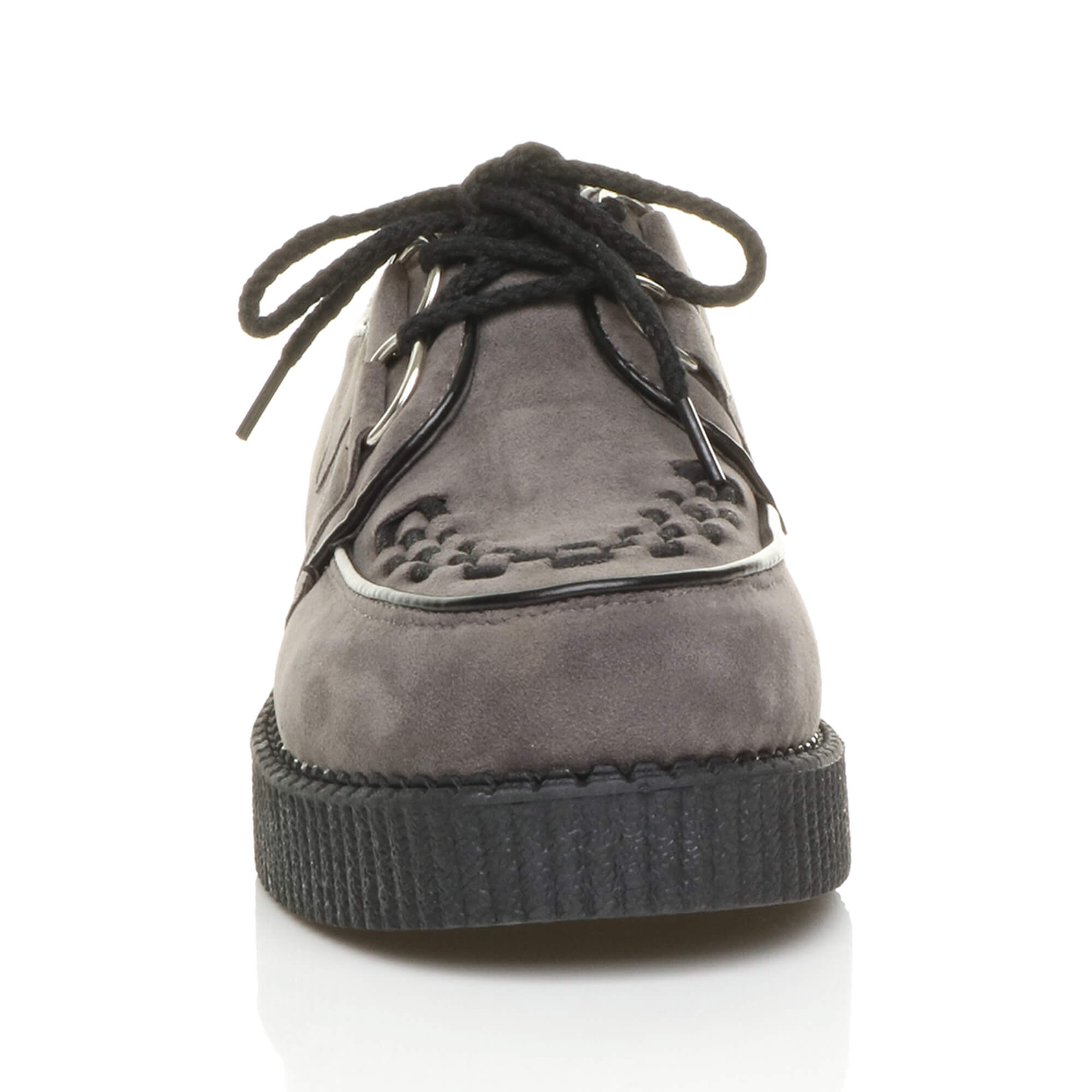 MENS-PLATFORM-WEDGE-LACE-UP-GOTH-PUNK-BROTHEL-CREEPERS-BEETLE-CRUSHERS-SHOES thumbnail 34