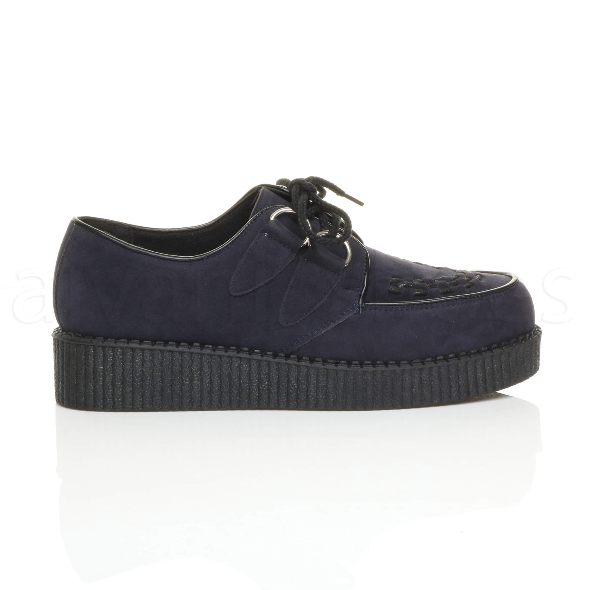 MENS-PLATFORM-WEDGE-LACE-UP-GOTH-PUNK-BROTHEL-CREEPERS-BEETLE-CRUSHERS-SHOES thumbnail 38