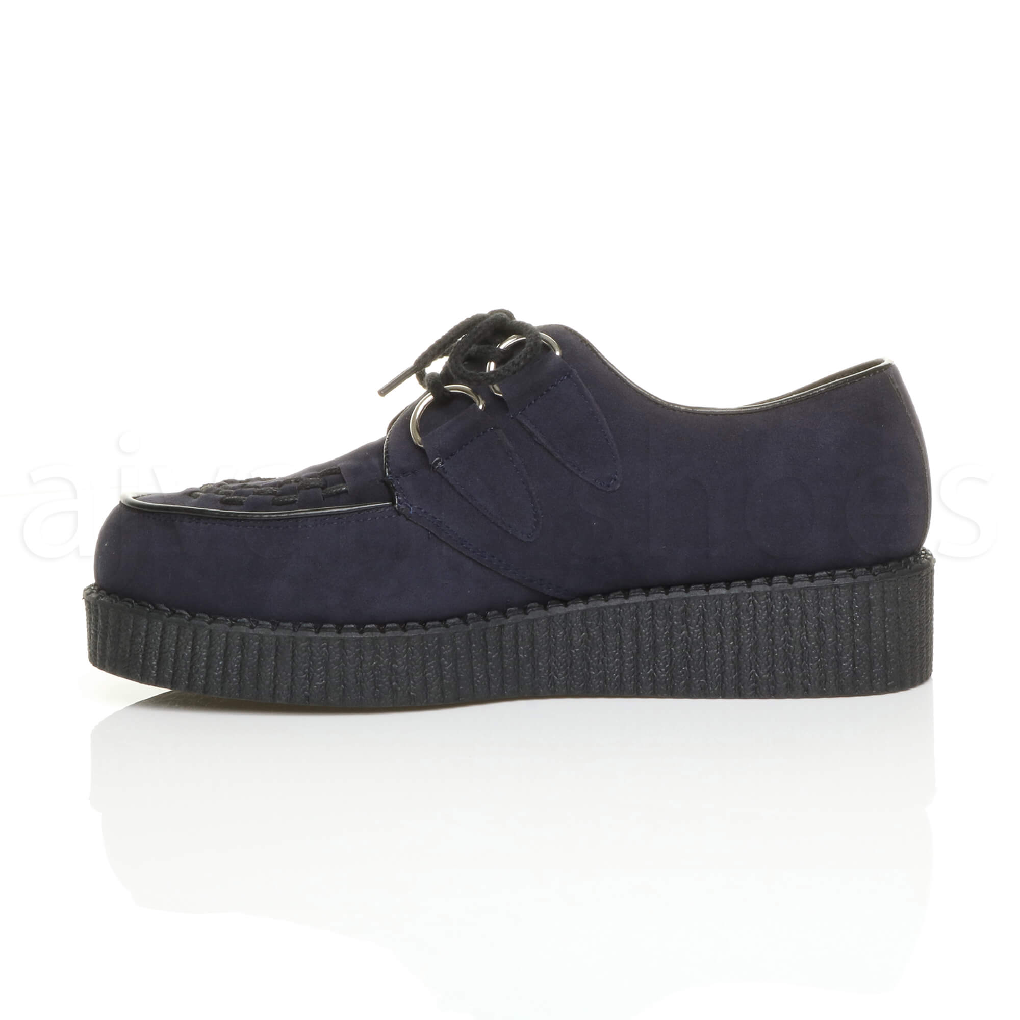 MENS-PLATFORM-WEDGE-LACE-UP-GOTH-PUNK-BROTHEL-CREEPERS-BEETLE-CRUSHERS-SHOES thumbnail 39