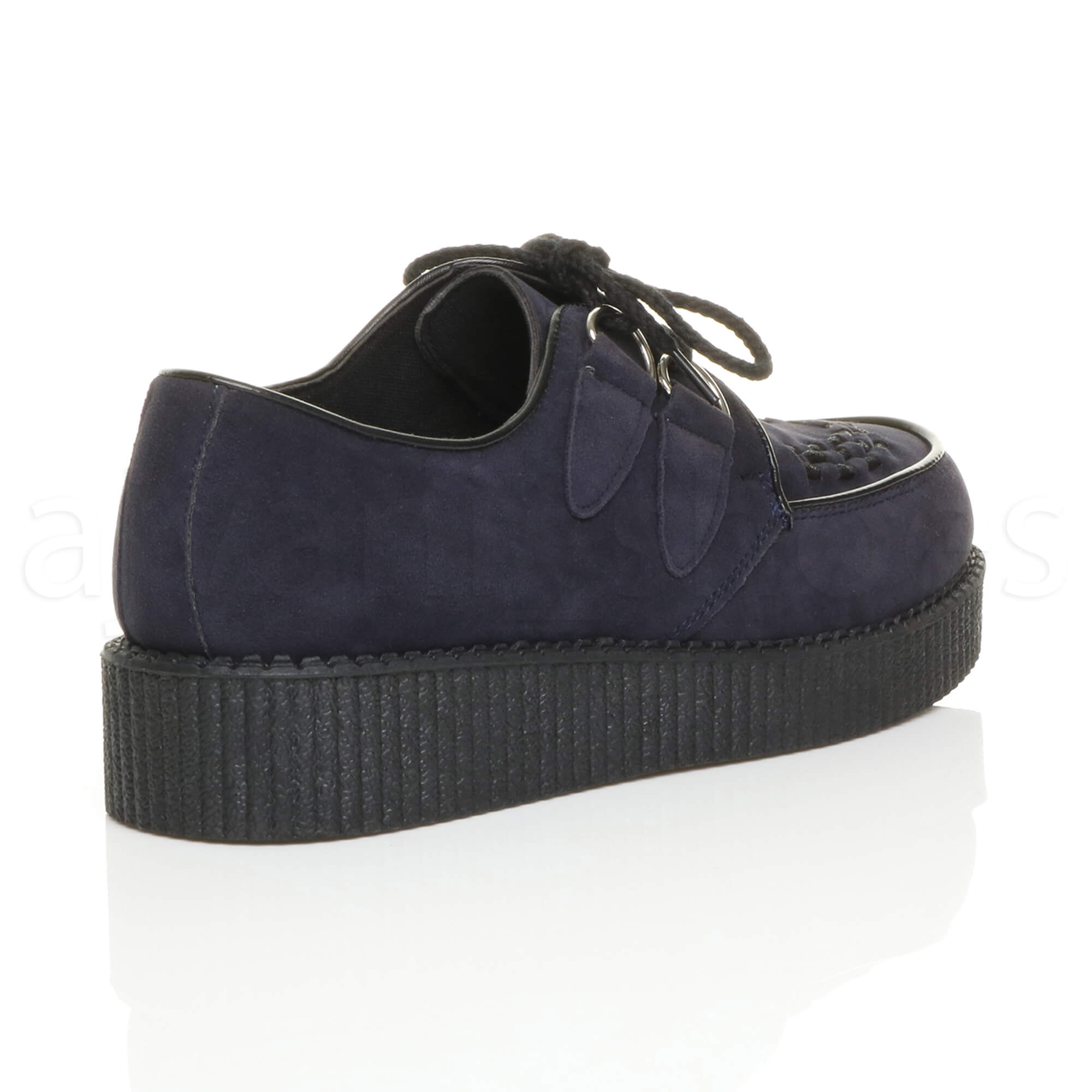 MENS-PLATFORM-WEDGE-LACE-UP-GOTH-PUNK-BROTHEL-CREEPERS-BEETLE-CRUSHERS-SHOES thumbnail 40