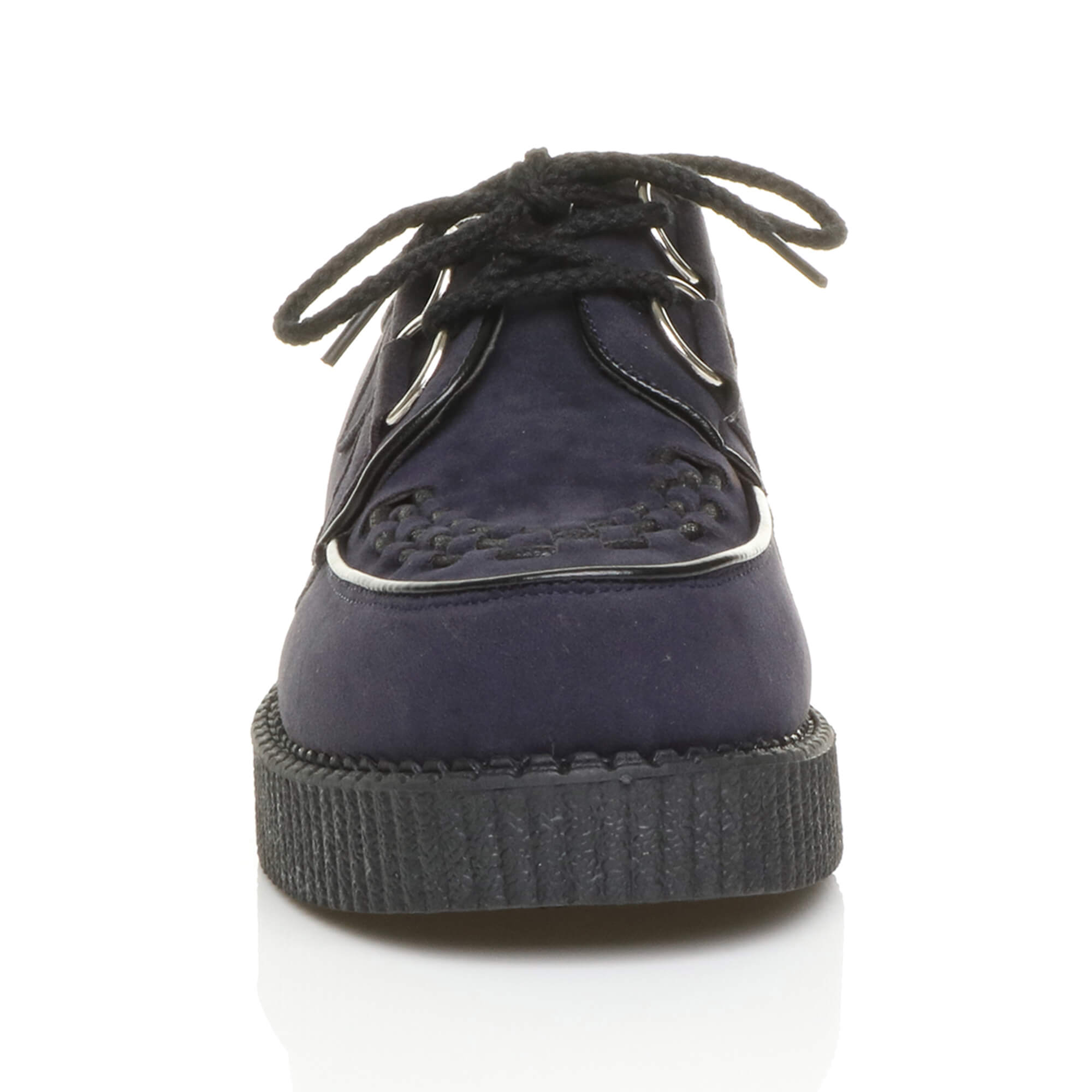 MENS-PLATFORM-WEDGE-LACE-UP-GOTH-PUNK-BROTHEL-CREEPERS-BEETLE-CRUSHERS-SHOES thumbnail 41