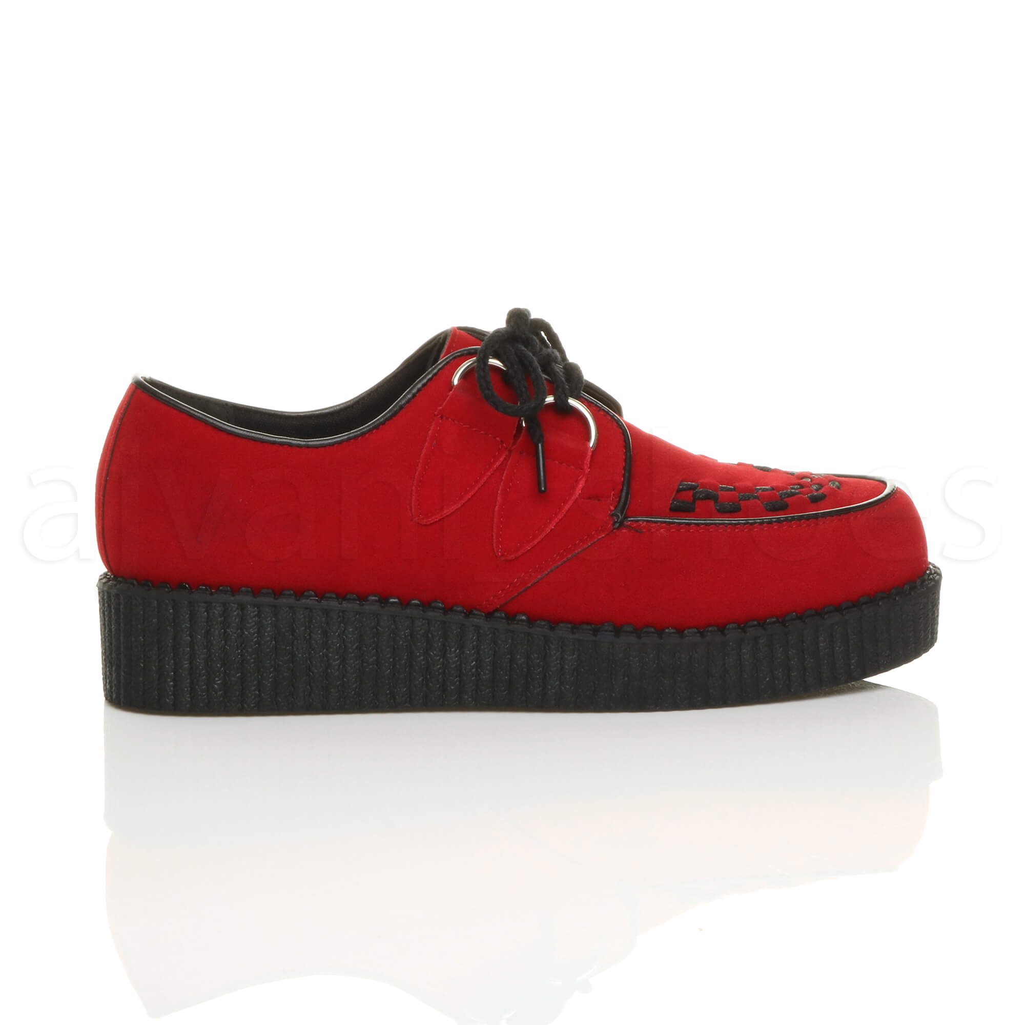 MENS-PLATFORM-WEDGE-LACE-UP-GOTH-PUNK-BROTHEL-CREEPERS-BEETLE-CRUSHERS-SHOES thumbnail 45