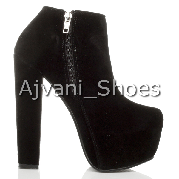 WOMENS-LADIES-HIGH-HEEL-CHUNKY-PLATFORM-LACE-UP-ANKLE-SHOES-BOOTS-BOOTIES-SIZE thumbnail 4