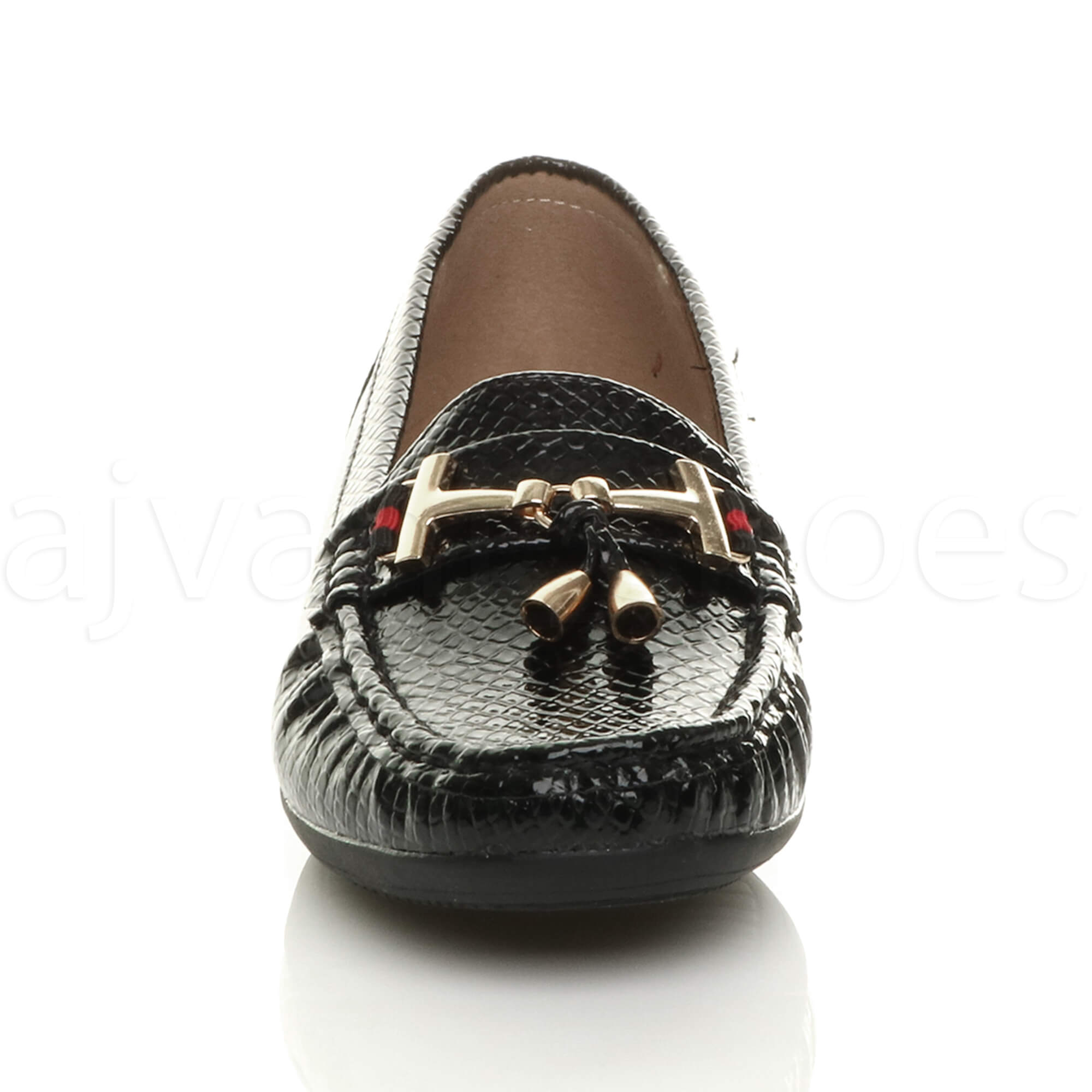 WOMENS-LADIES-LOW-HEEL-WEDGE-LEATHER-TASSEL-LOAFERS-COMFORT-MOCCASINS-SHOES-SIZE thumbnail 23
