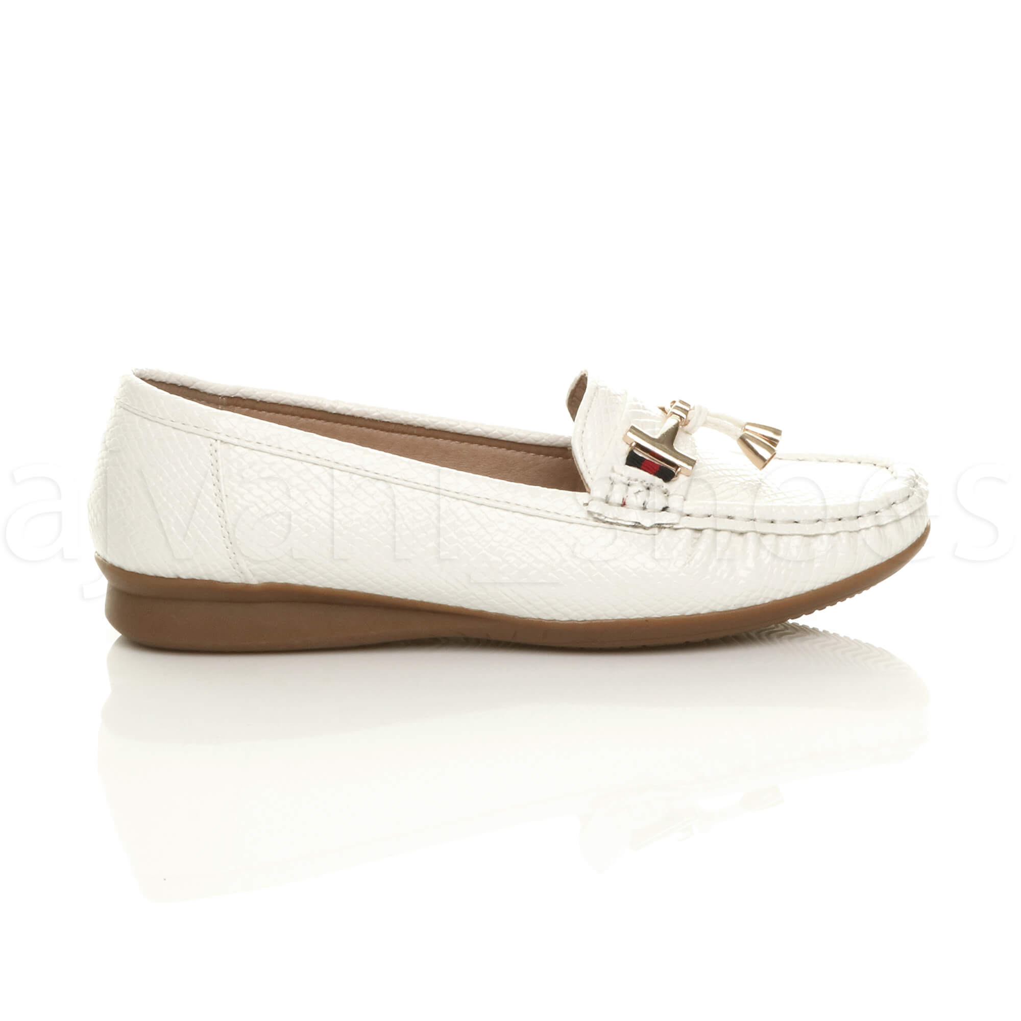 WOMENS-LADIES-LOW-HEEL-WEDGE-LEATHER-TASSEL-LOAFERS-COMFORT-MOCCASINS-SHOES-SIZE thumbnail 51