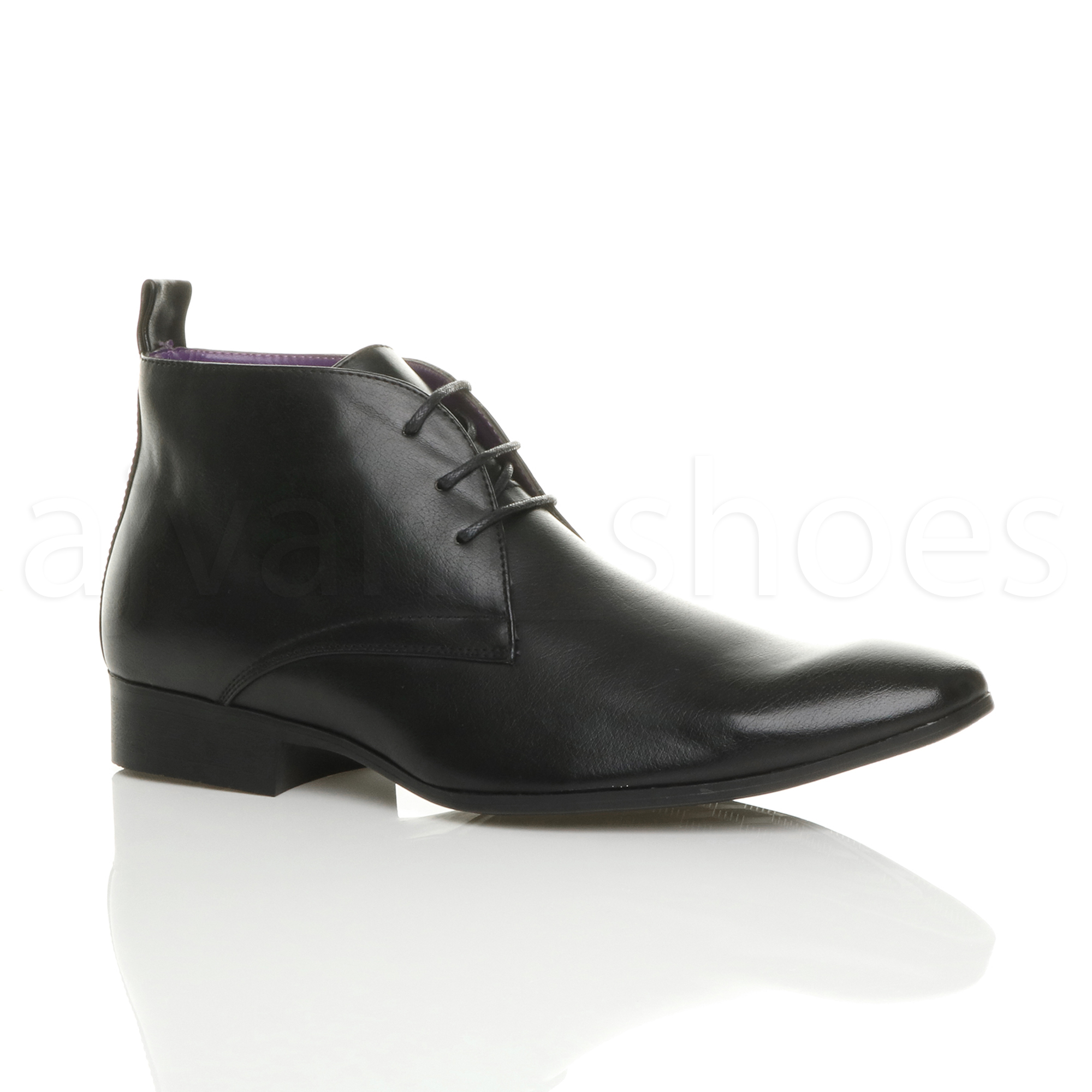 MENS LOW HEEL LACE UP POINTED FORMAL WORK SMART CASUAL SHOES ANKLE BOOTS  SIZE 987211c2f