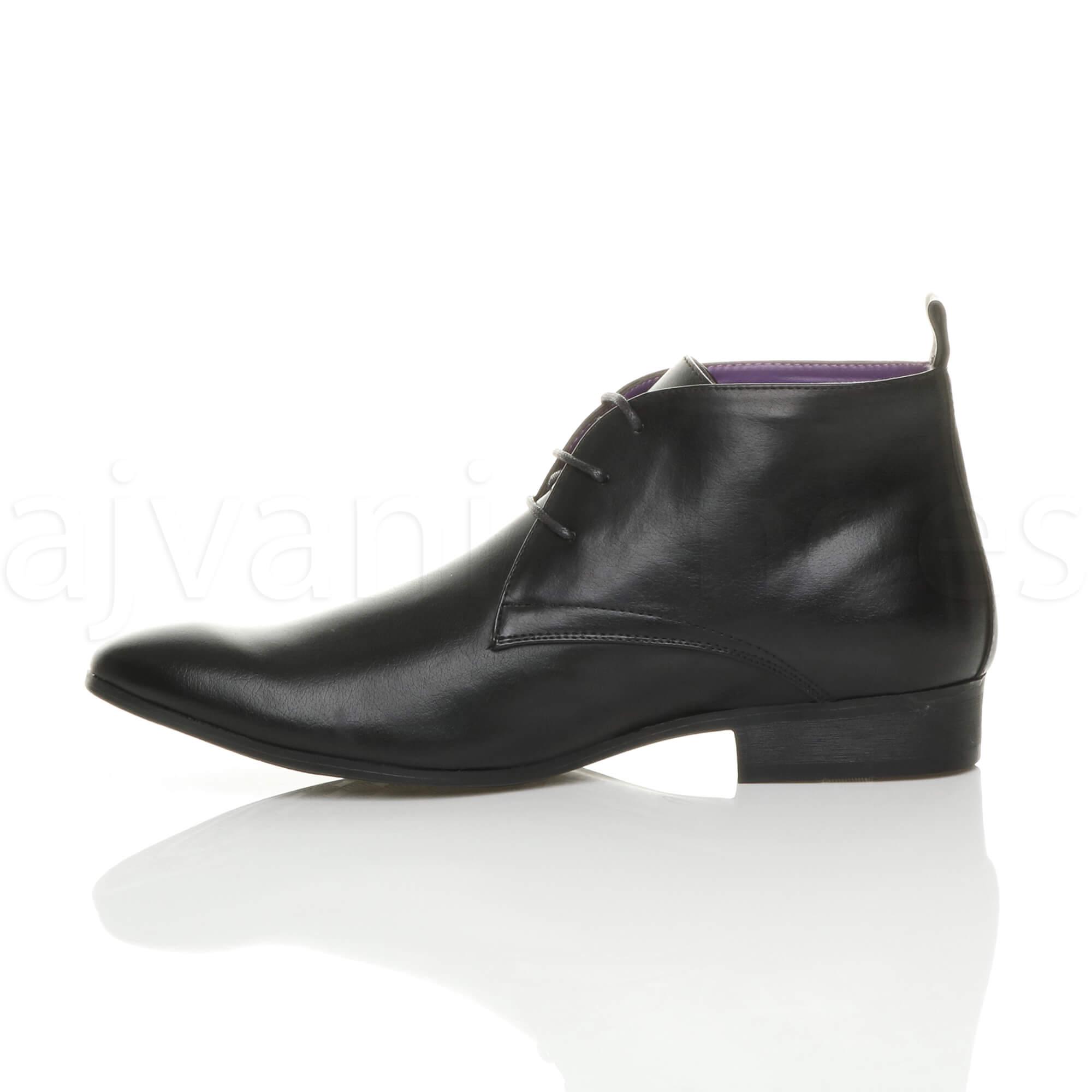 Herren Klein Absatz Schnüren Formal Arbeit Schuhe Stiefeletten Größe 8 42 8lvgP