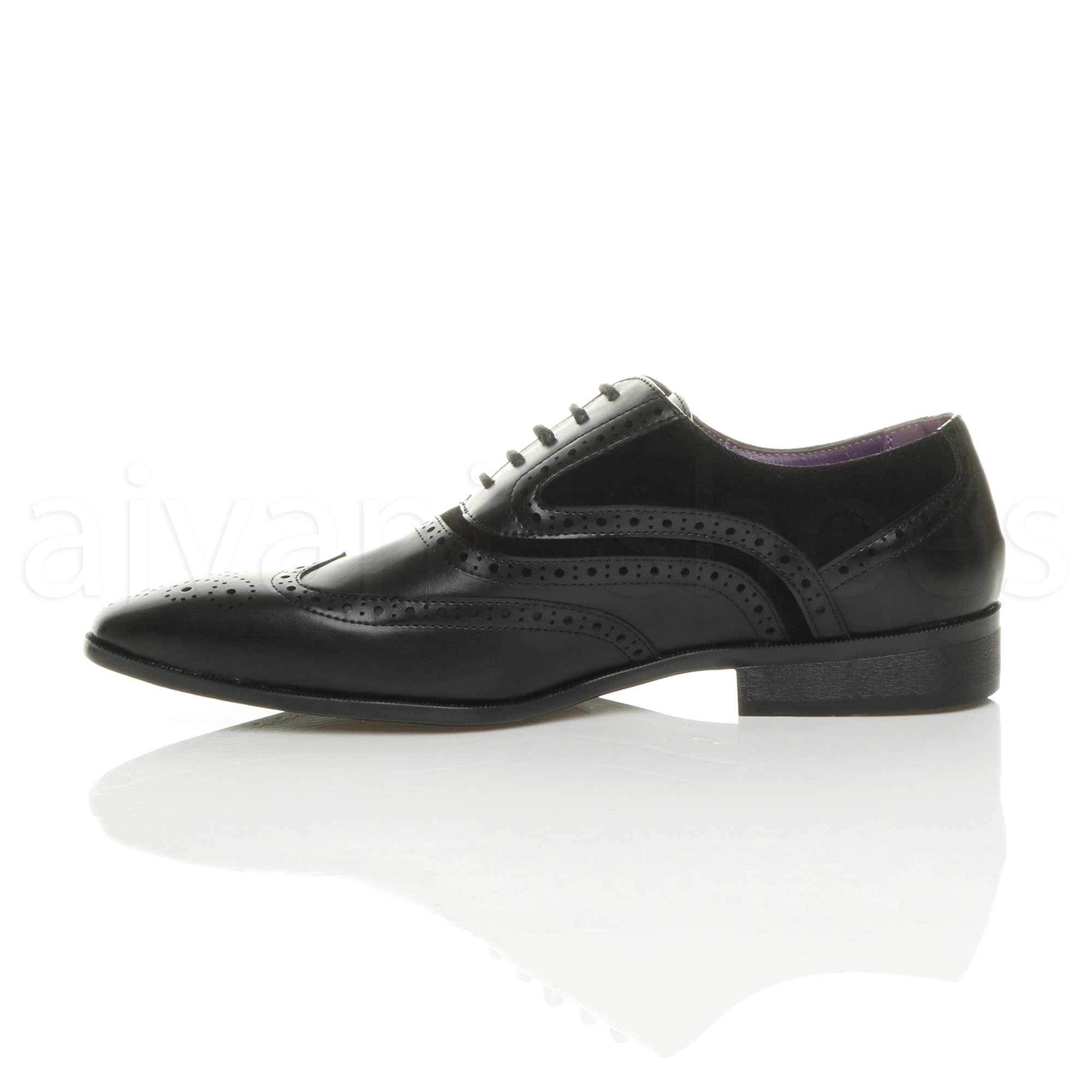MENS-LACE-UP-CONTRAST-POINTED-TOE-SMART-CASUAL-WORK-FORMAL-BROGUE-SHOES-SIZE