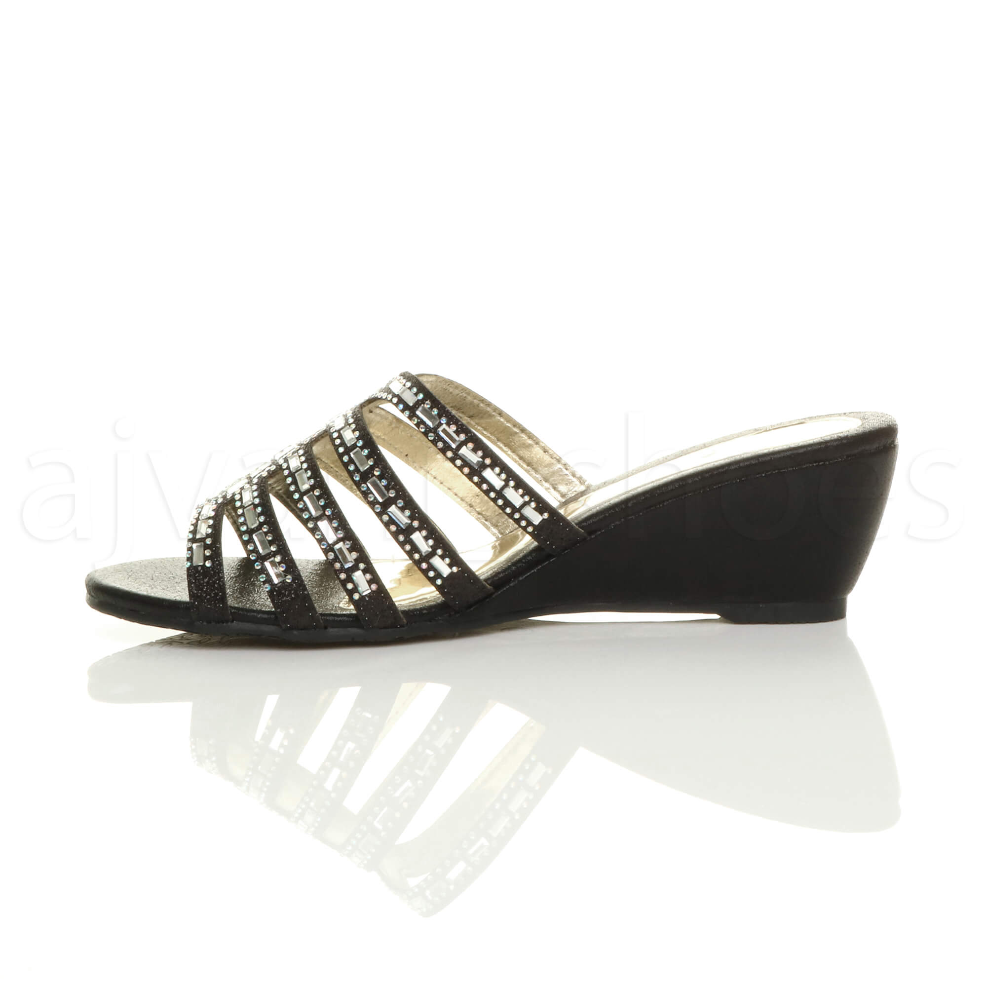 WOMENS-LADIES-LOW-MID-WEDGE-HEEL-DIAMANTE-STRAPPY-EVENING-SANDALS-MULES-SIZE