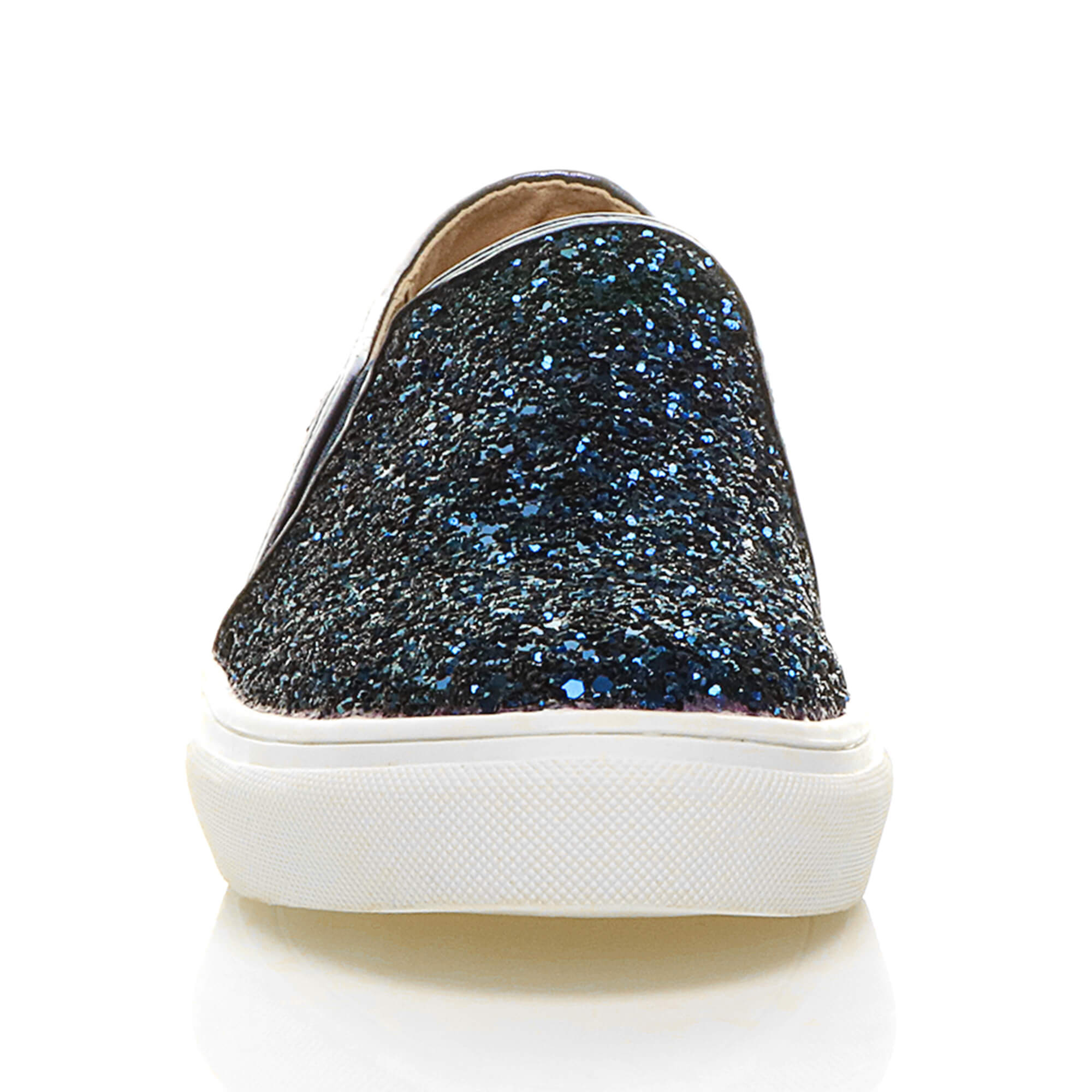WOMENS-LADIES-FLAT-SLIP-ON-GLITTER-PLIMSOLLS-PUMPS-TRAINERS-SKATER-SHOES-SIZE