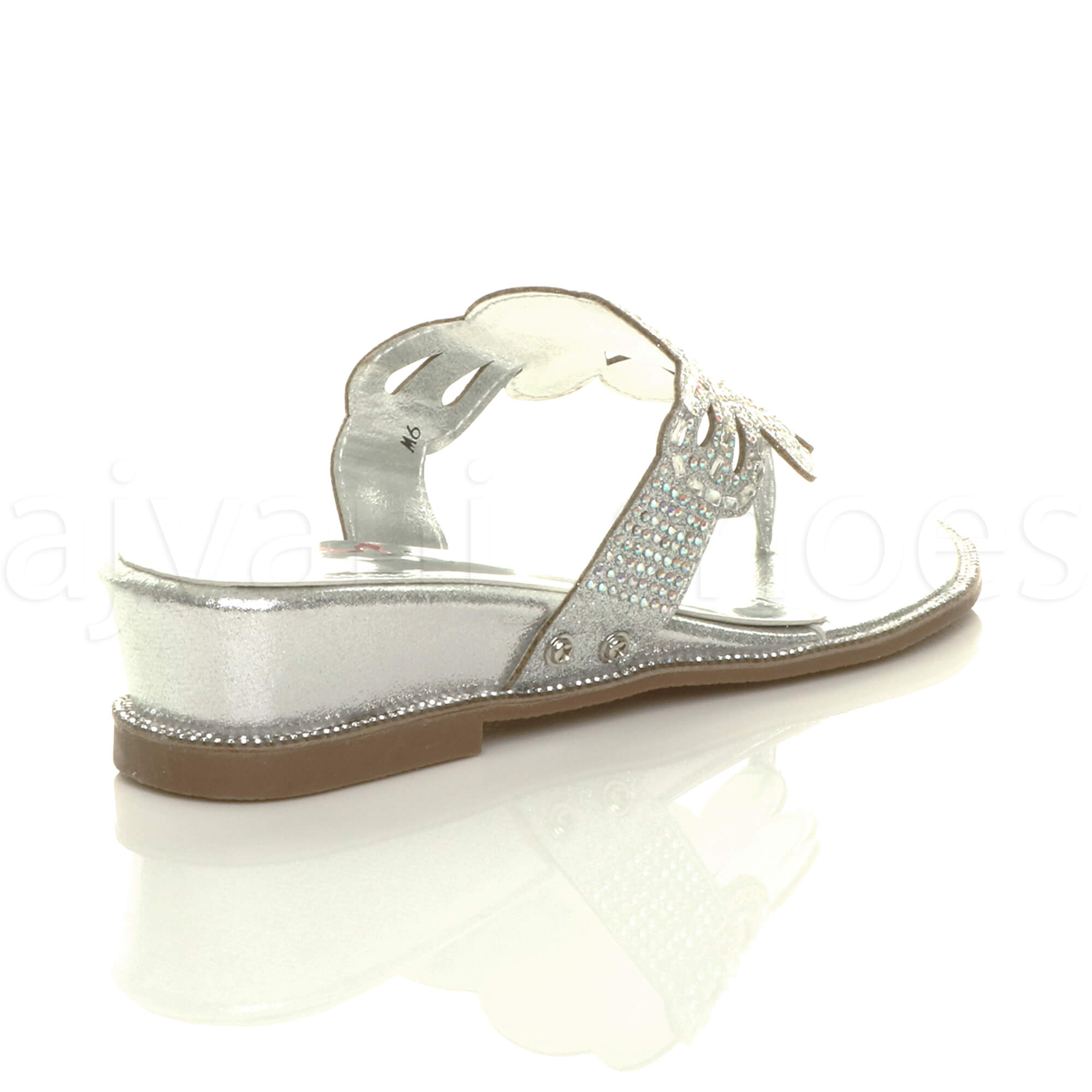 WOMENS-LADIES-LOW-MID-WEDGE-HEEL-DIAMANTE-EVENING-TOE-POST-SANDALS-MULES-SIZE thumbnail 21