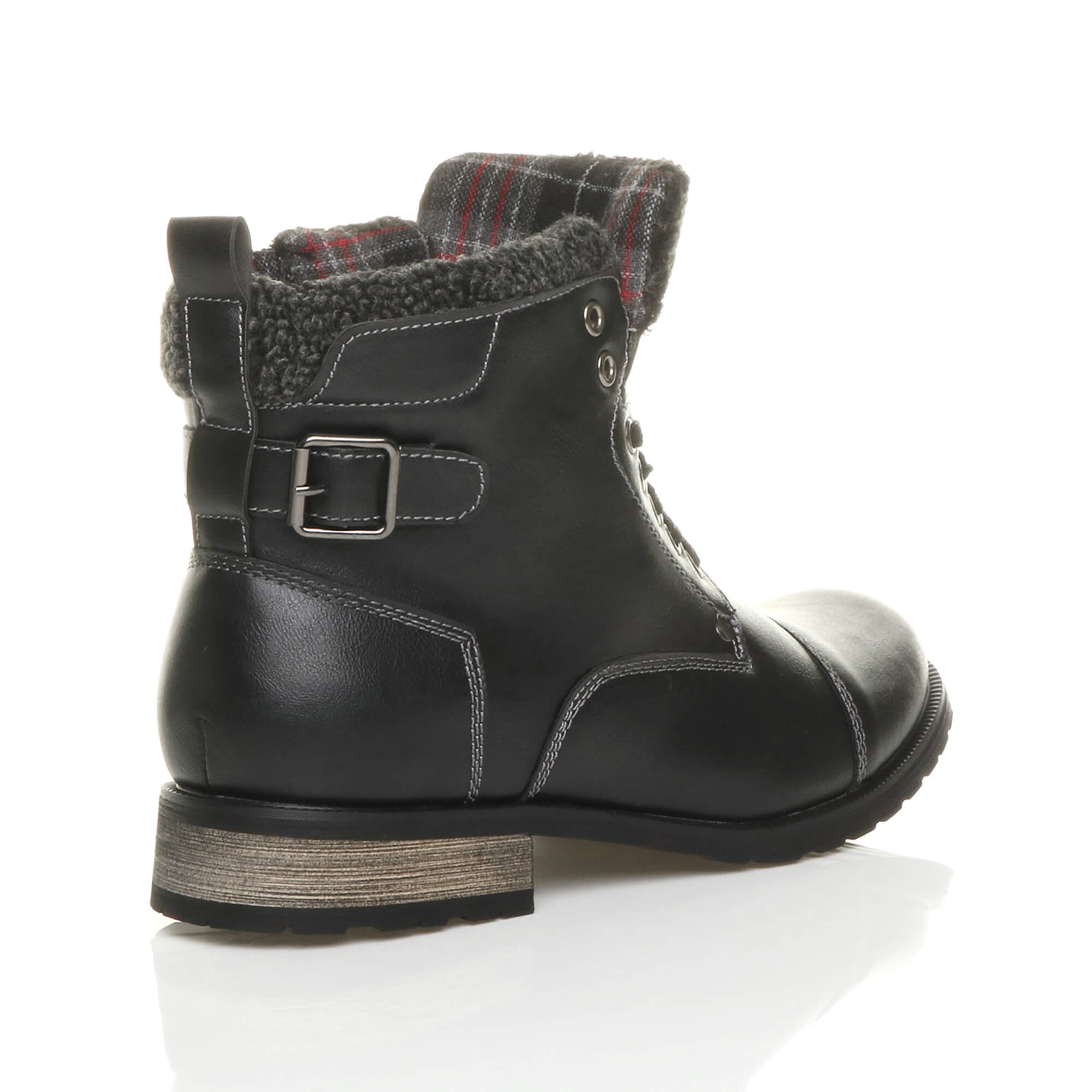 MENS-LACE-UP-ZIP-FUR-TRIM-SMART-WORK-WINTER-ARMY-MILITARY-BIKER-ANKLE-BOOTS-SIZE thumbnail 5