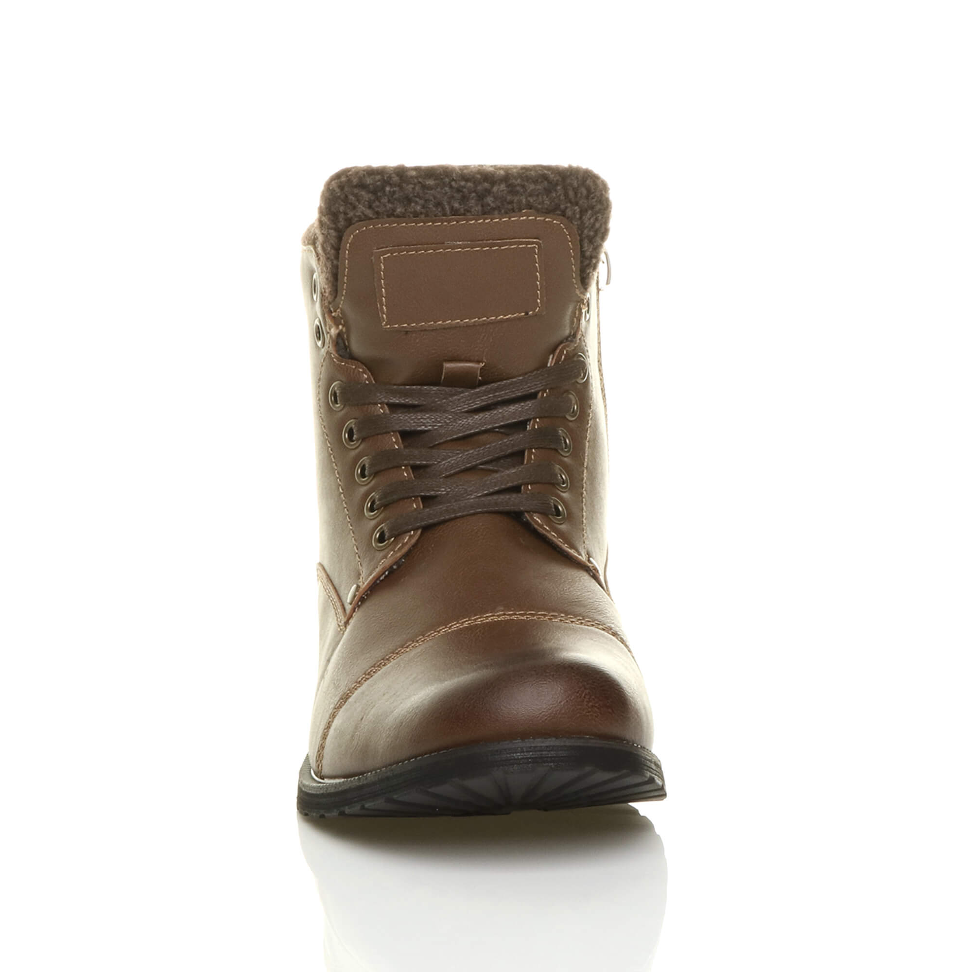 MENS-LACE-UP-ZIP-FUR-TRIM-SMART-WORK-WINTER-ARMY-MILITARY-BIKER-ANKLE-BOOTS-SIZE thumbnail 15