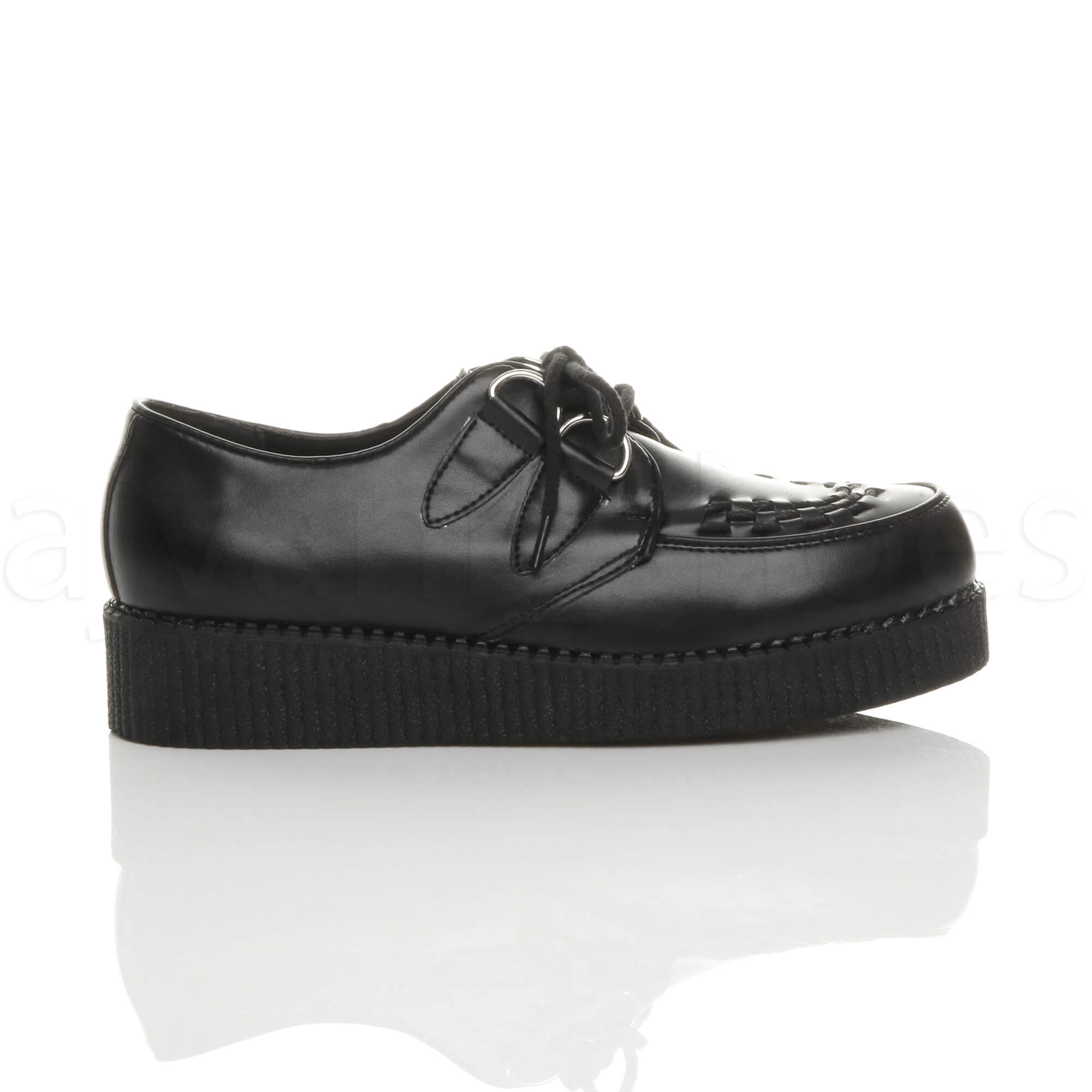 MENS-PLATFORM-WEDGE-LACE-UP-GOTH-PUNK-BROTHEL-CREEPERS-BEETLE-CRUSHERS-SHOES thumbnail 3