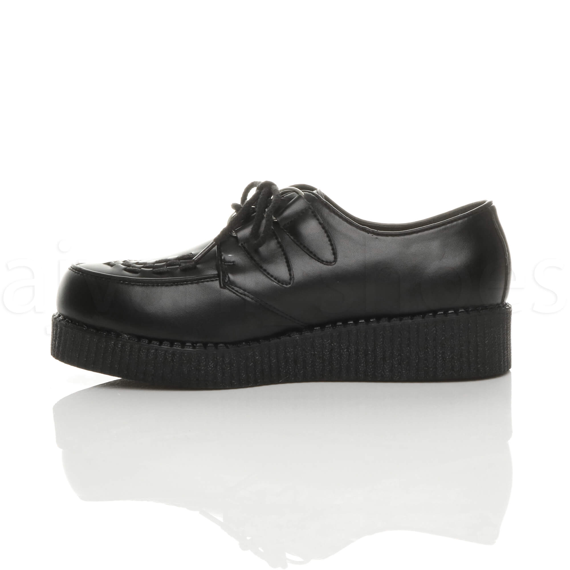 MENS-PLATFORM-WEDGE-LACE-UP-GOTH-PUNK-BROTHEL-CREEPERS-BEETLE-CRUSHERS-SHOES thumbnail 4