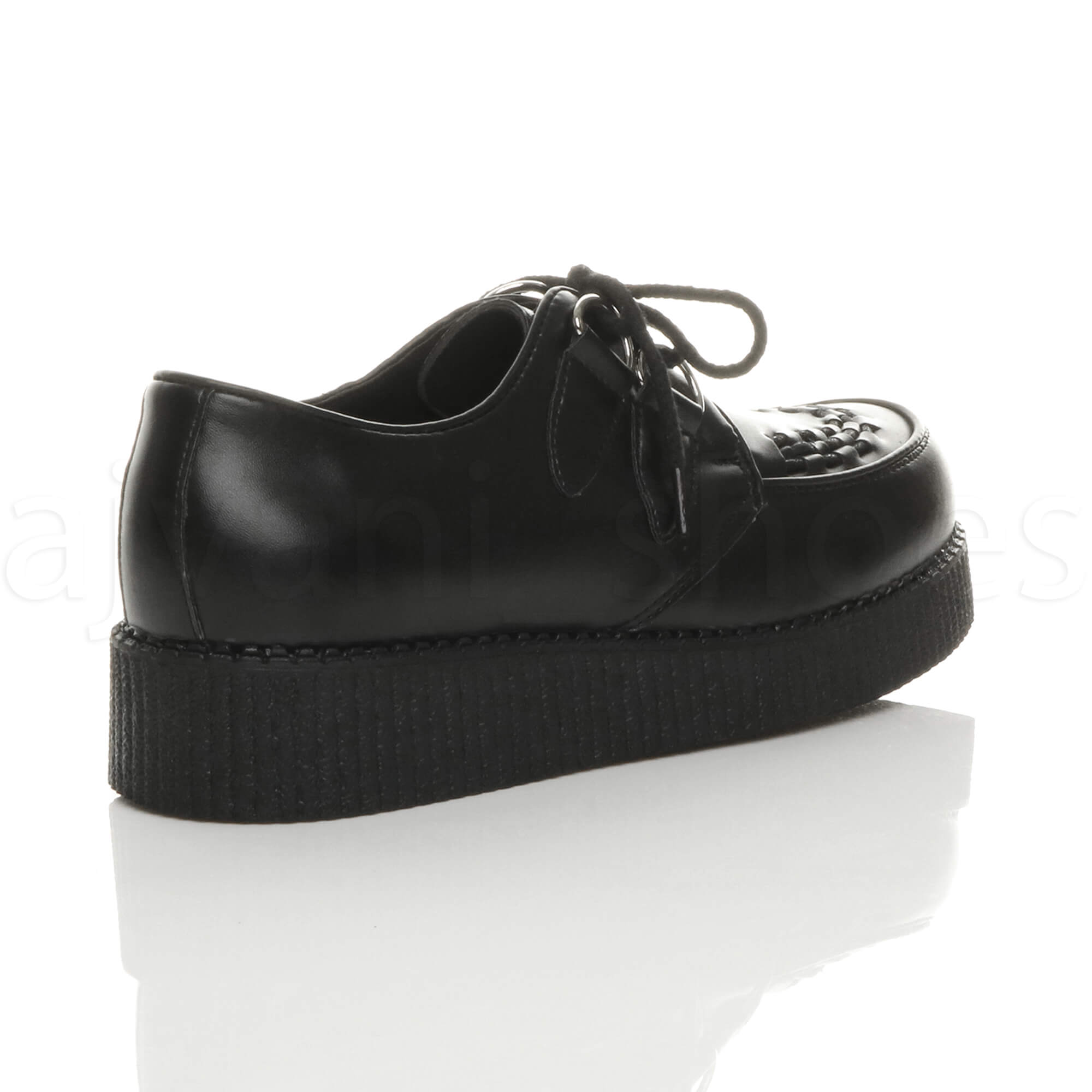 MENS-PLATFORM-WEDGE-LACE-UP-GOTH-PUNK-BROTHEL-CREEPERS-BEETLE-CRUSHERS-SHOES thumbnail 5