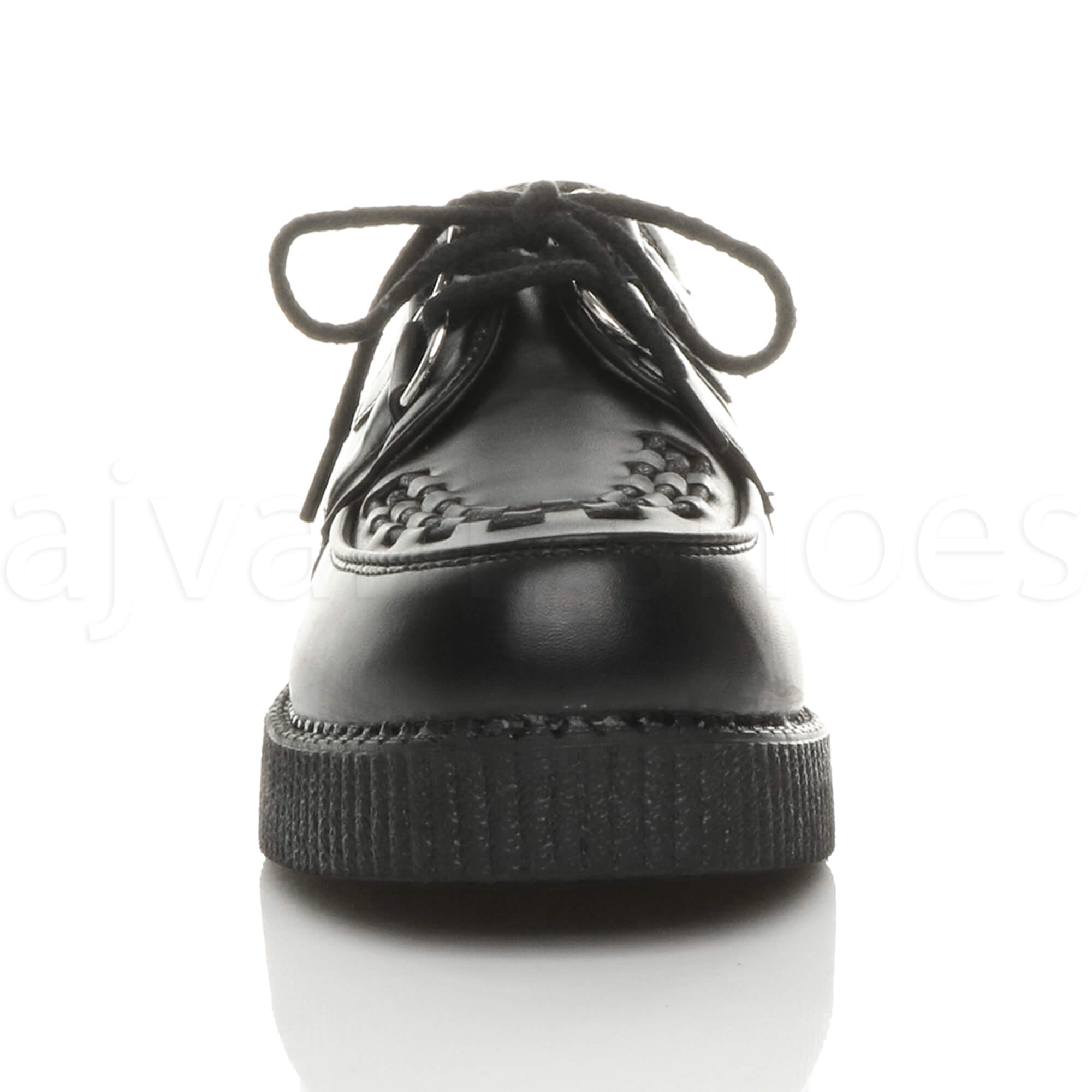 MENS-PLATFORM-WEDGE-LACE-UP-GOTH-PUNK-BROTHEL-CREEPERS-BEETLE-CRUSHERS-SHOES thumbnail 6
