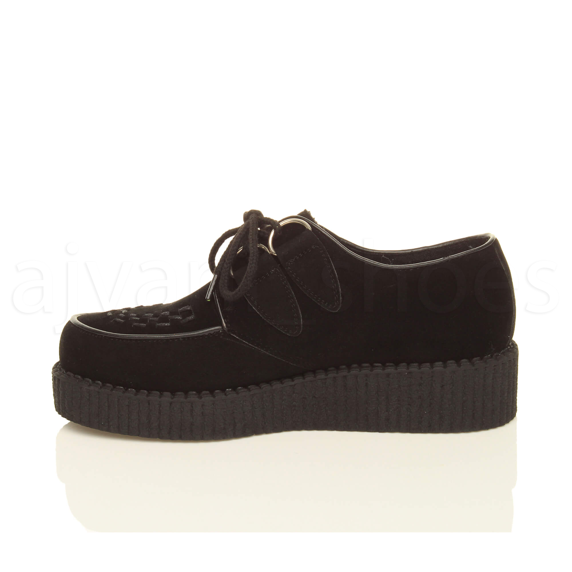 MENS-PLATFORM-WEDGE-LACE-UP-GOTH-PUNK-BROTHEL-CREEPERS-BEETLE-CRUSHERS-SHOES thumbnail 11