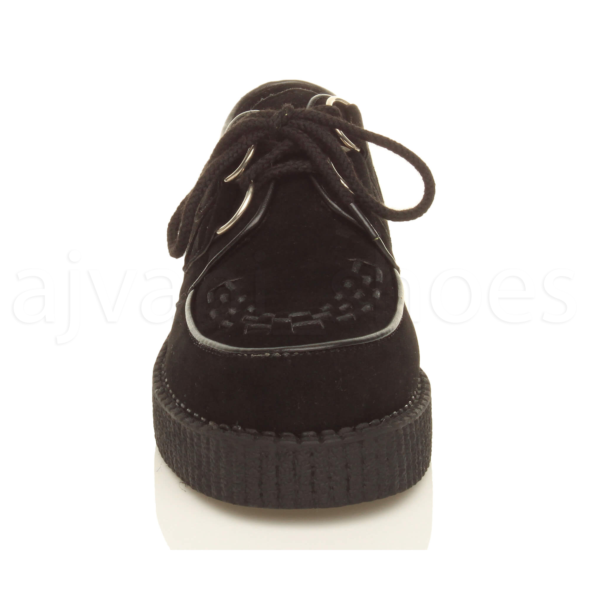MENS-PLATFORM-WEDGE-LACE-UP-GOTH-PUNK-BROTHEL-CREEPERS-BEETLE-CRUSHERS-SHOES thumbnail 12