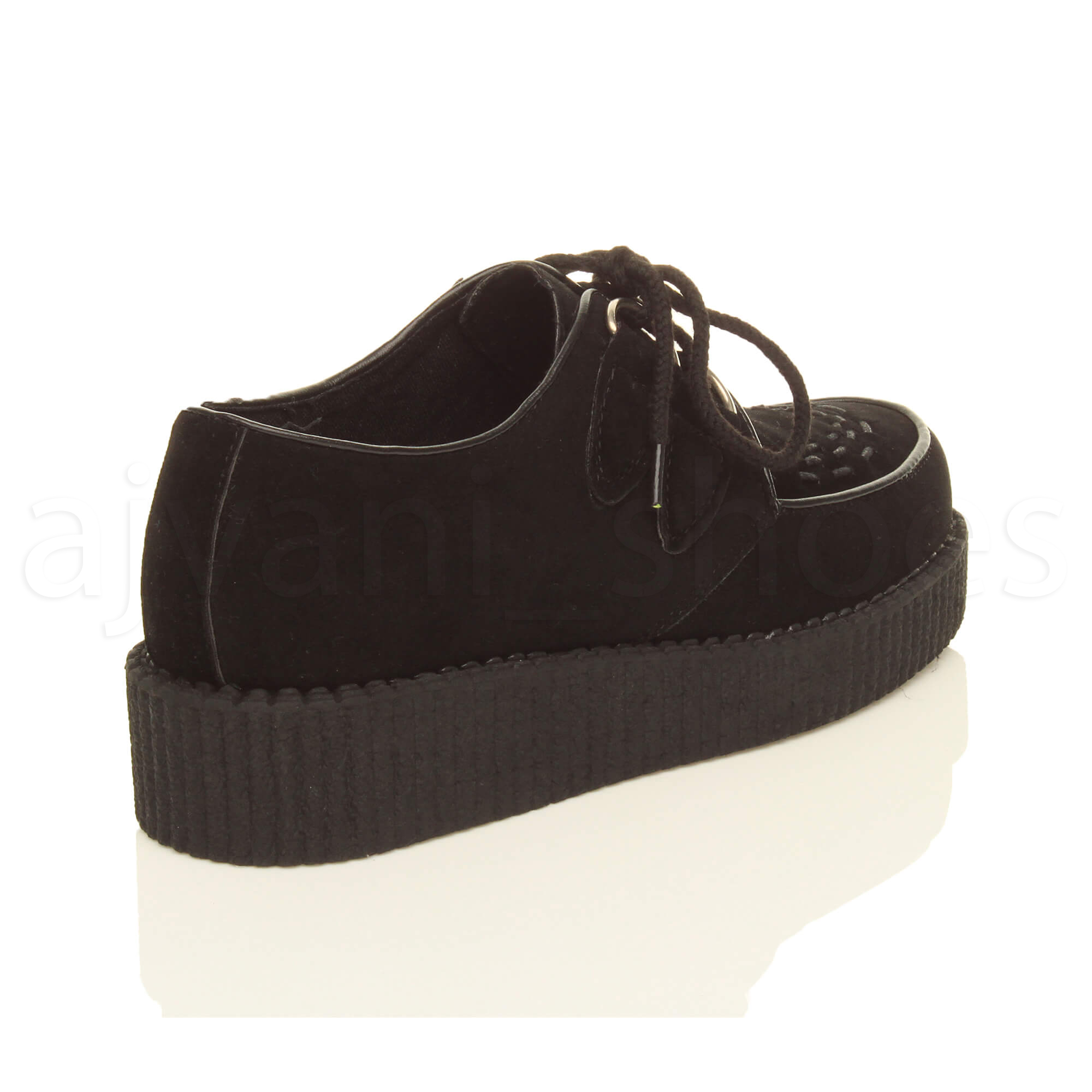 MENS-PLATFORM-WEDGE-LACE-UP-GOTH-PUNK-BROTHEL-CREEPERS-BEETLE-CRUSHERS-SHOES thumbnail 13