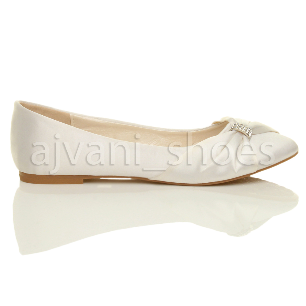 WOMENS-LADIES-WEDDING-BRIDAL-EVENING-BALLERINA-BALLET-FLATS-DOLLY-SHOES-SIZE