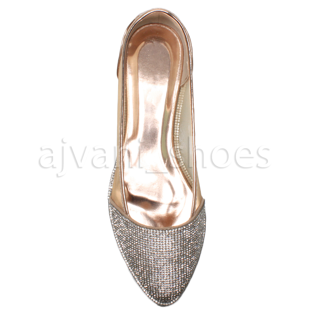 WOMENS-LADIES-DIAMANTE-TRIM-POINTED-TOE-FLAT-MESH-DOLLY-BALLERINA-SHOES-SIZE
