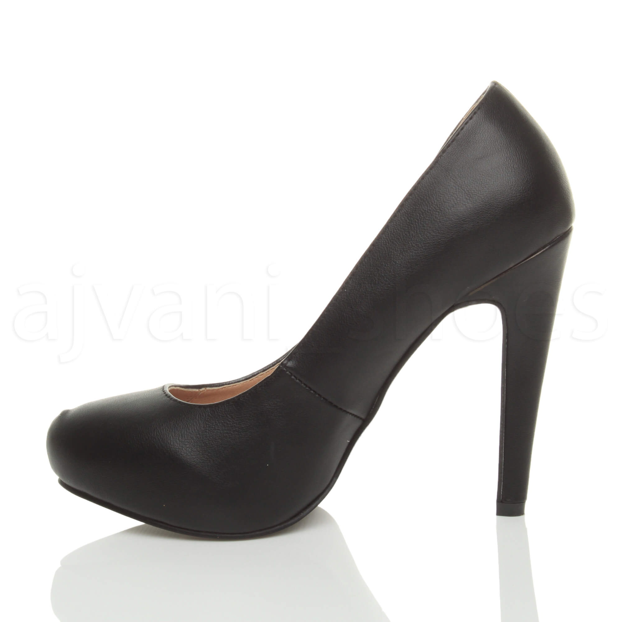 WOMENS-LADIES-HIGH-HEEL-CONCEALED-PLATFORM-COURT-SHOES-PARTY-PROM-PUMPS-SIZE thumbnail 4