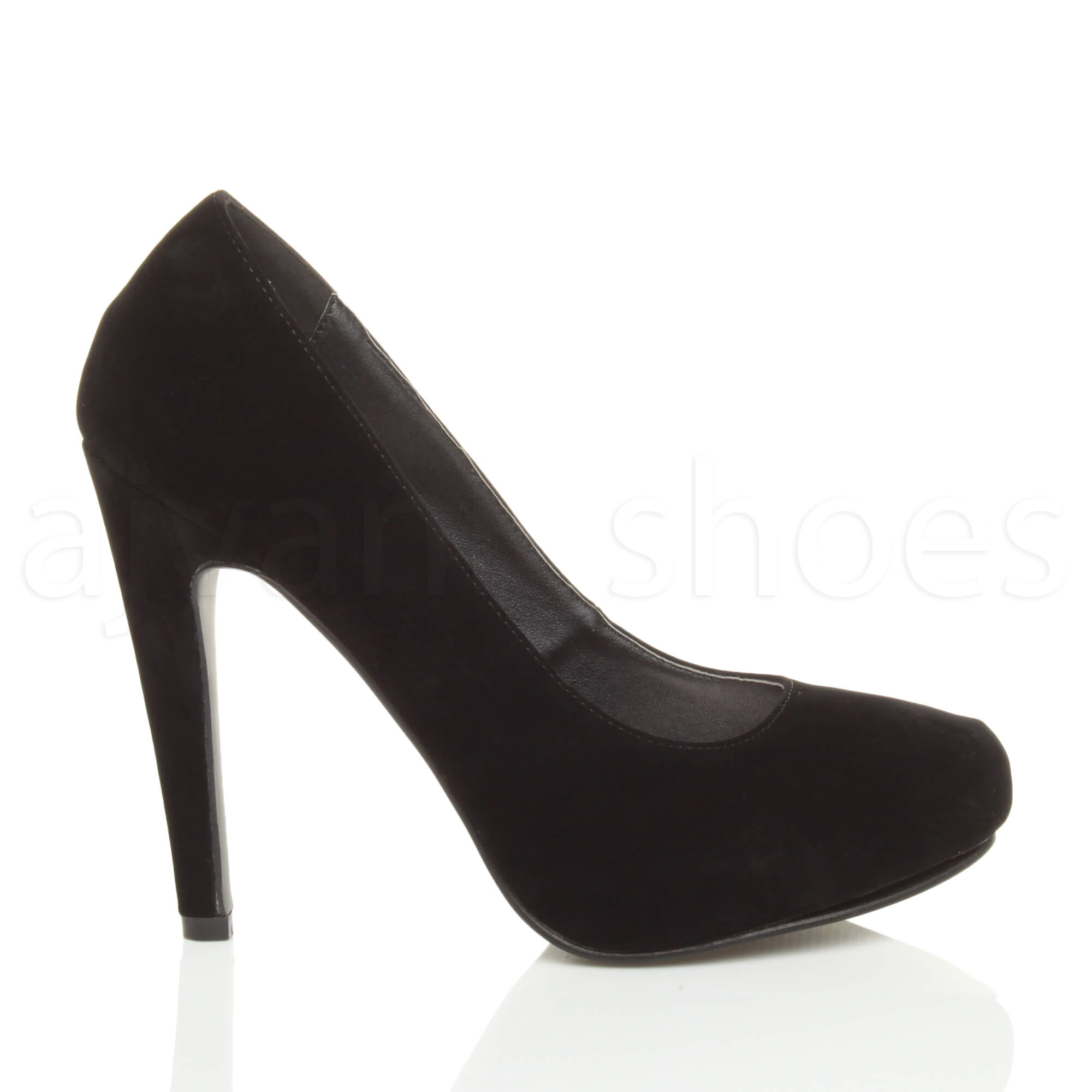 WOMENS-LADIES-HIGH-HEEL-CONCEALED-PLATFORM-COURT-SHOES-PARTY-PROM-PUMPS-SIZE thumbnail 8