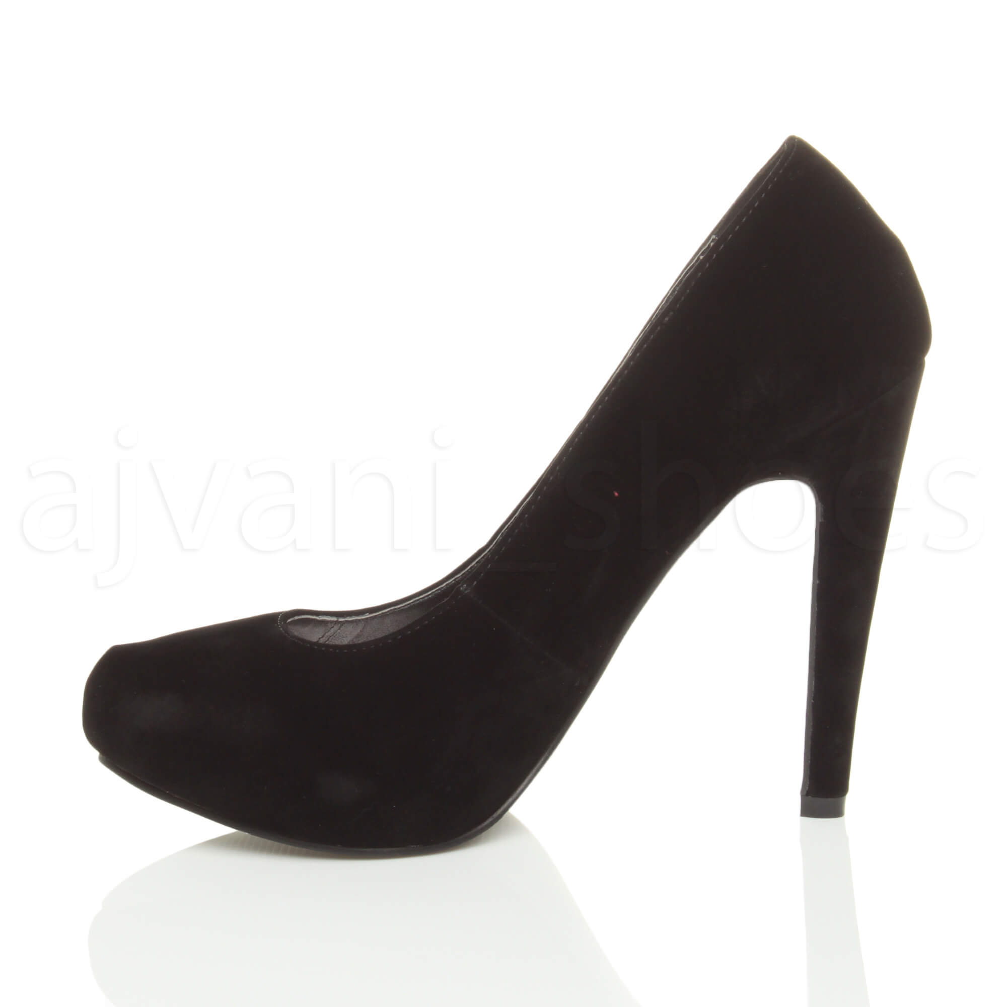 WOMENS-LADIES-HIGH-HEEL-CONCEALED-PLATFORM-COURT-SHOES-PARTY-PROM-PUMPS-SIZE thumbnail 9