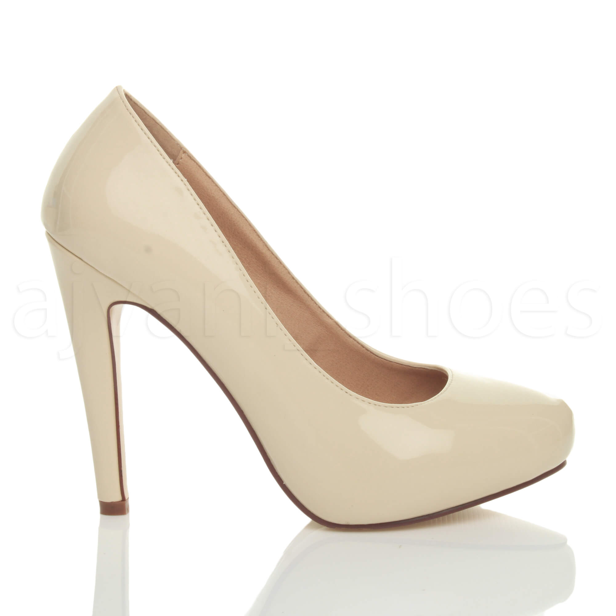 WOMENS-LADIES-HIGH-HEEL-CONCEALED-PLATFORM-COURT-SHOES-PARTY-PROM-PUMPS-SIZE thumbnail 13