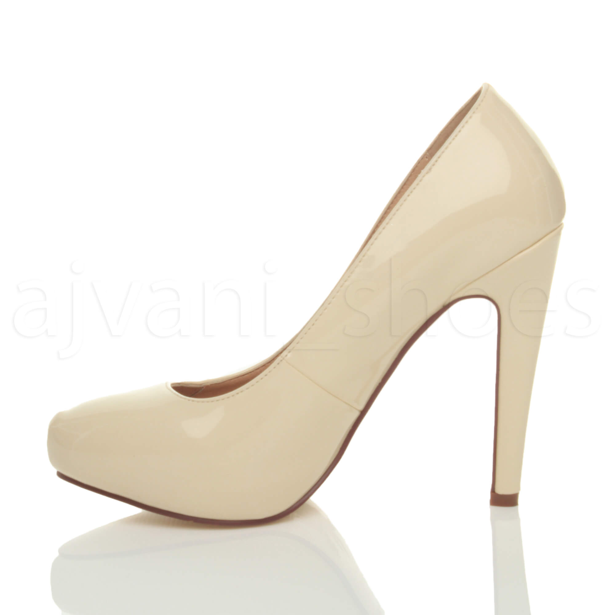WOMENS-LADIES-HIGH-HEEL-CONCEALED-PLATFORM-COURT-SHOES-PARTY-PROM-PUMPS-SIZE thumbnail 14