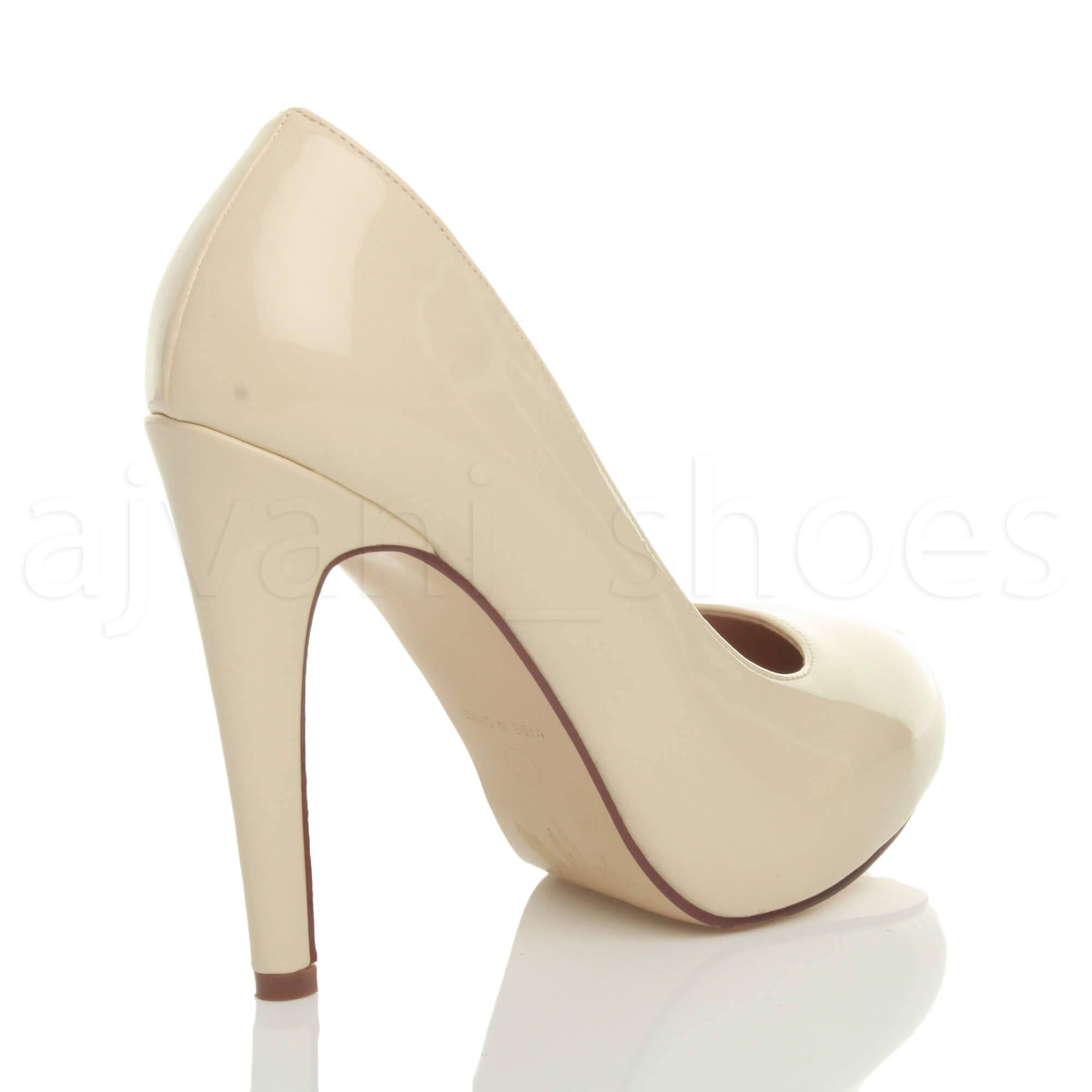 WOMENS-LADIES-HIGH-HEEL-CONCEALED-PLATFORM-COURT-SHOES-PARTY-PROM-PUMPS-SIZE thumbnail 16