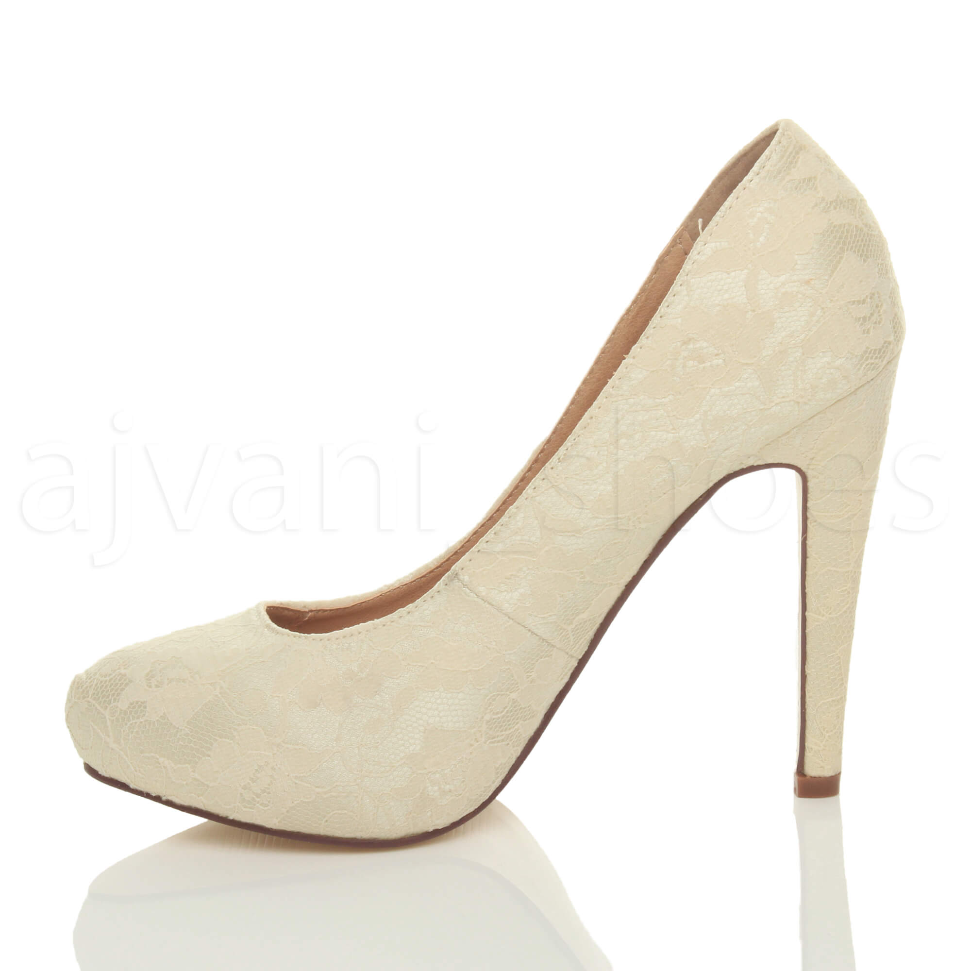 WOMENS-LADIES-HIGH-HEEL-CONCEALED-PLATFORM-COURT-SHOES-PARTY-PROM-PUMPS-SIZE thumbnail 19