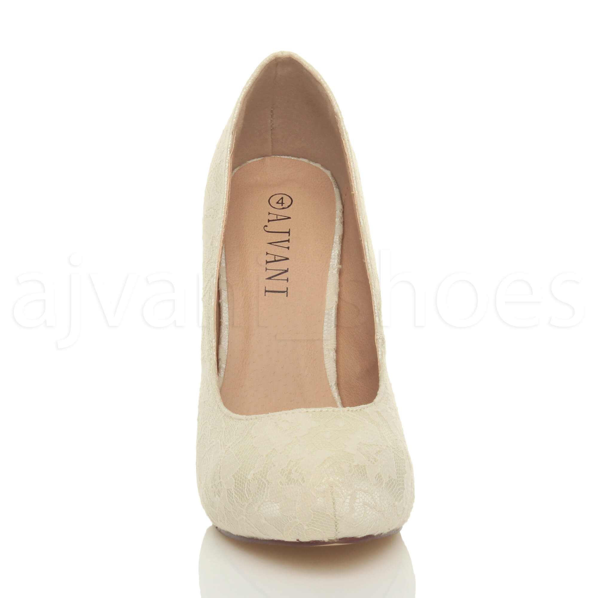 WOMENS-LADIES-HIGH-HEEL-CONCEALED-PLATFORM-COURT-SHOES-PARTY-PROM-PUMPS-SIZE thumbnail 20
