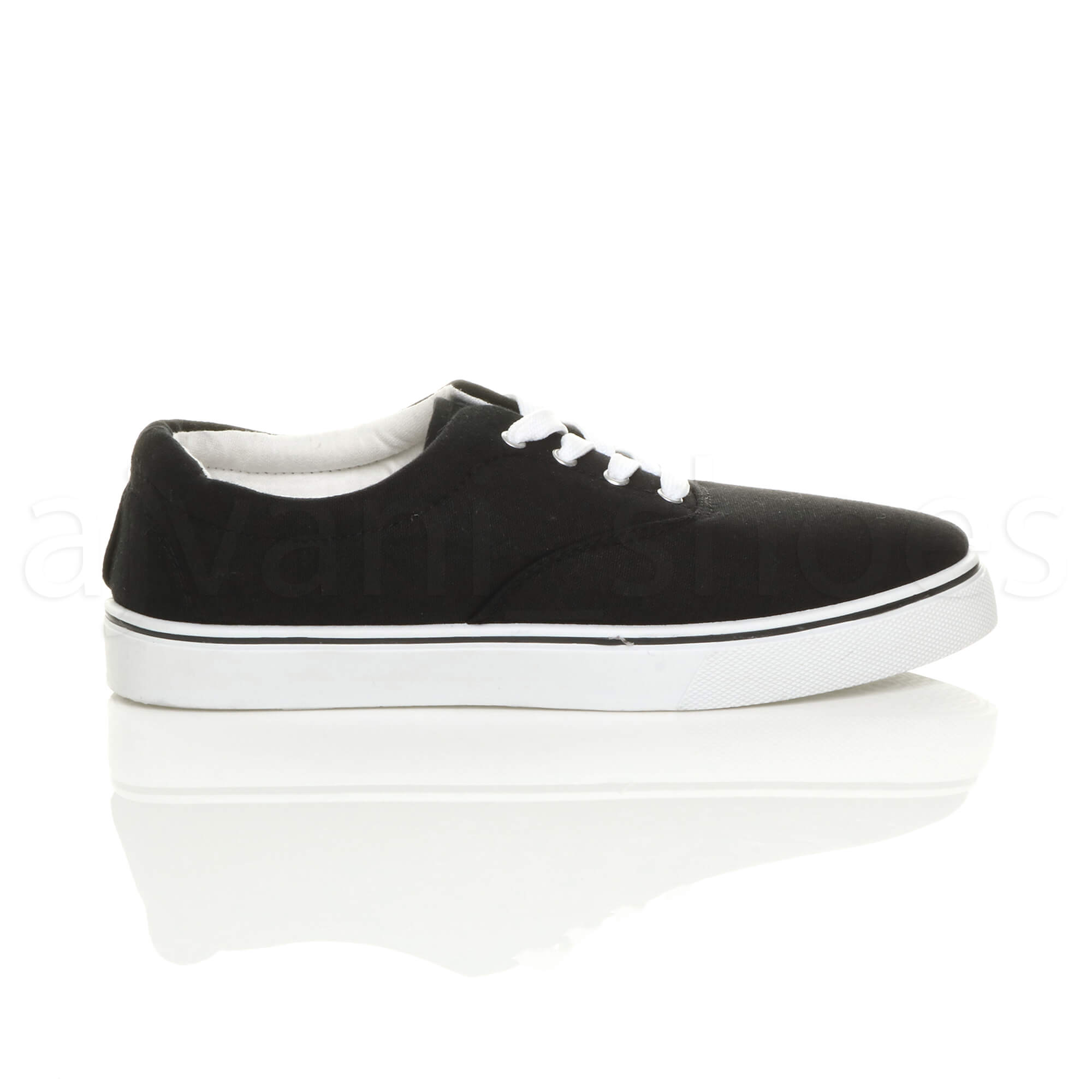 MENS-CANVAS-CASUAL-TRAINERS-PLIMSOLES-PLIMSOLLS-SHOES-LACE-UP-PUMPS-SIZE thumbnail 3